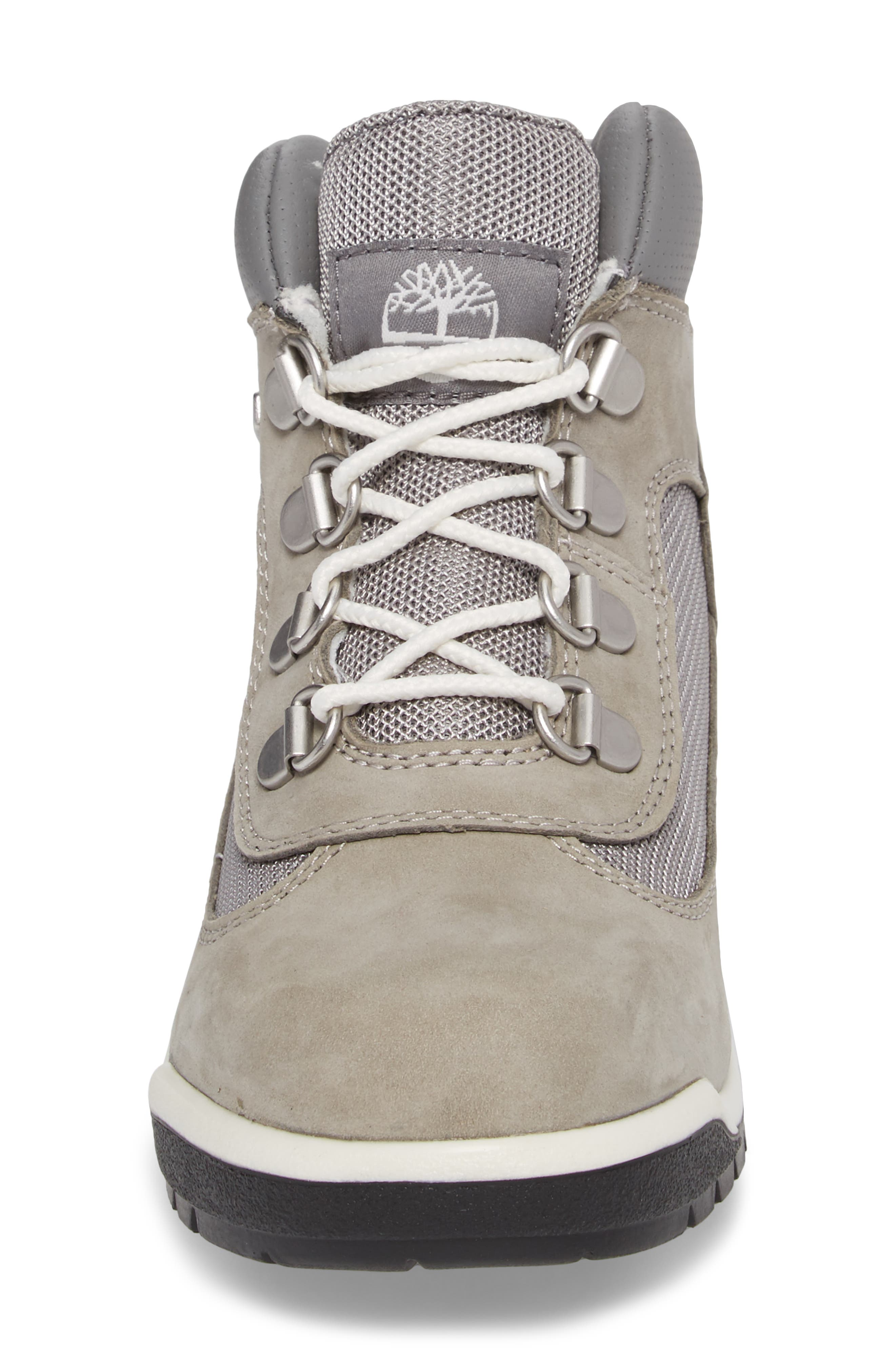 Water-Resistant Chukka Field Boot,                             Alternate thumbnail 4, color,                             Lite Grey