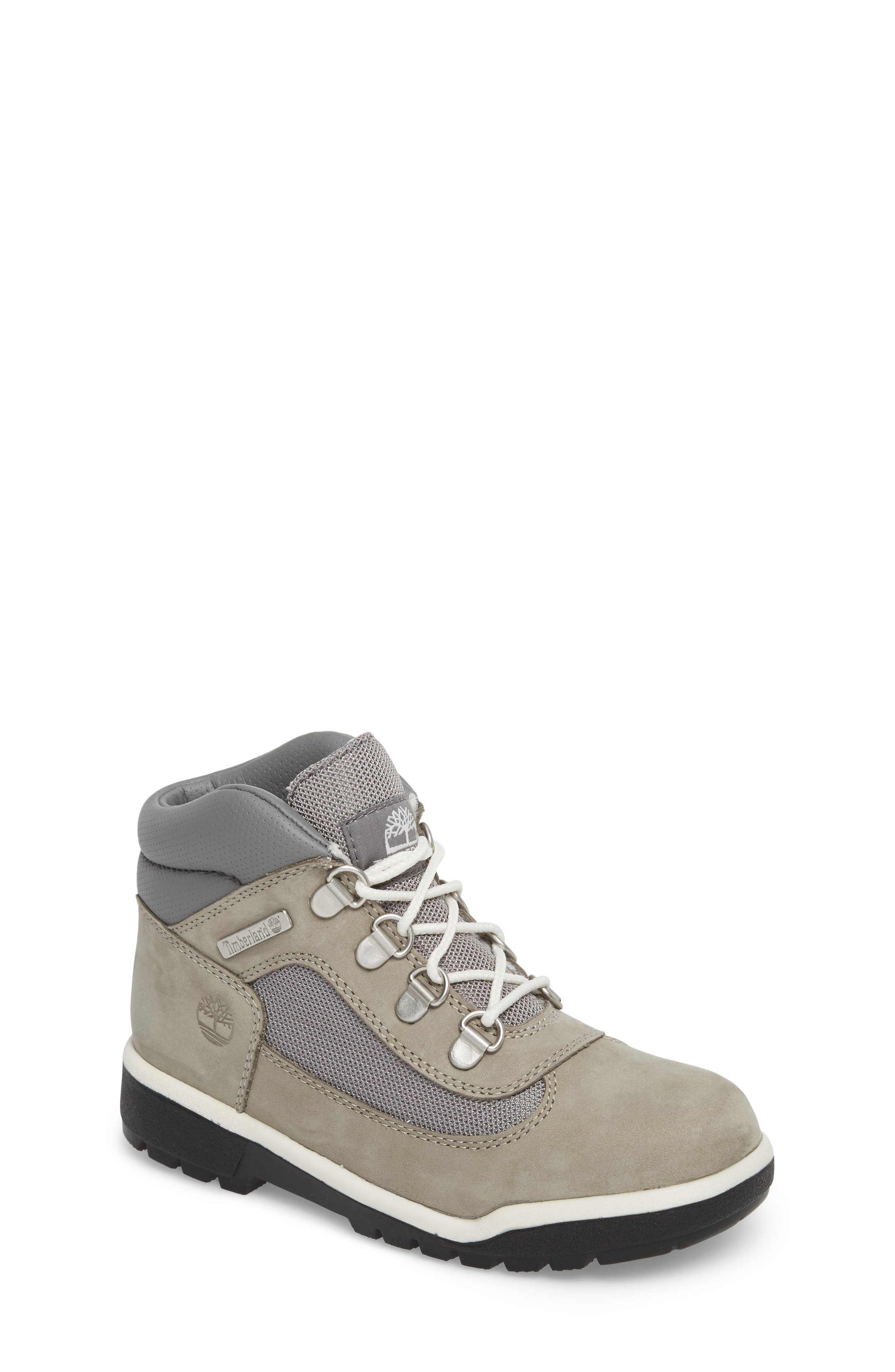 Water-Resistant Chukka Field Boot,                             Main thumbnail 1, color,                             Lite Grey