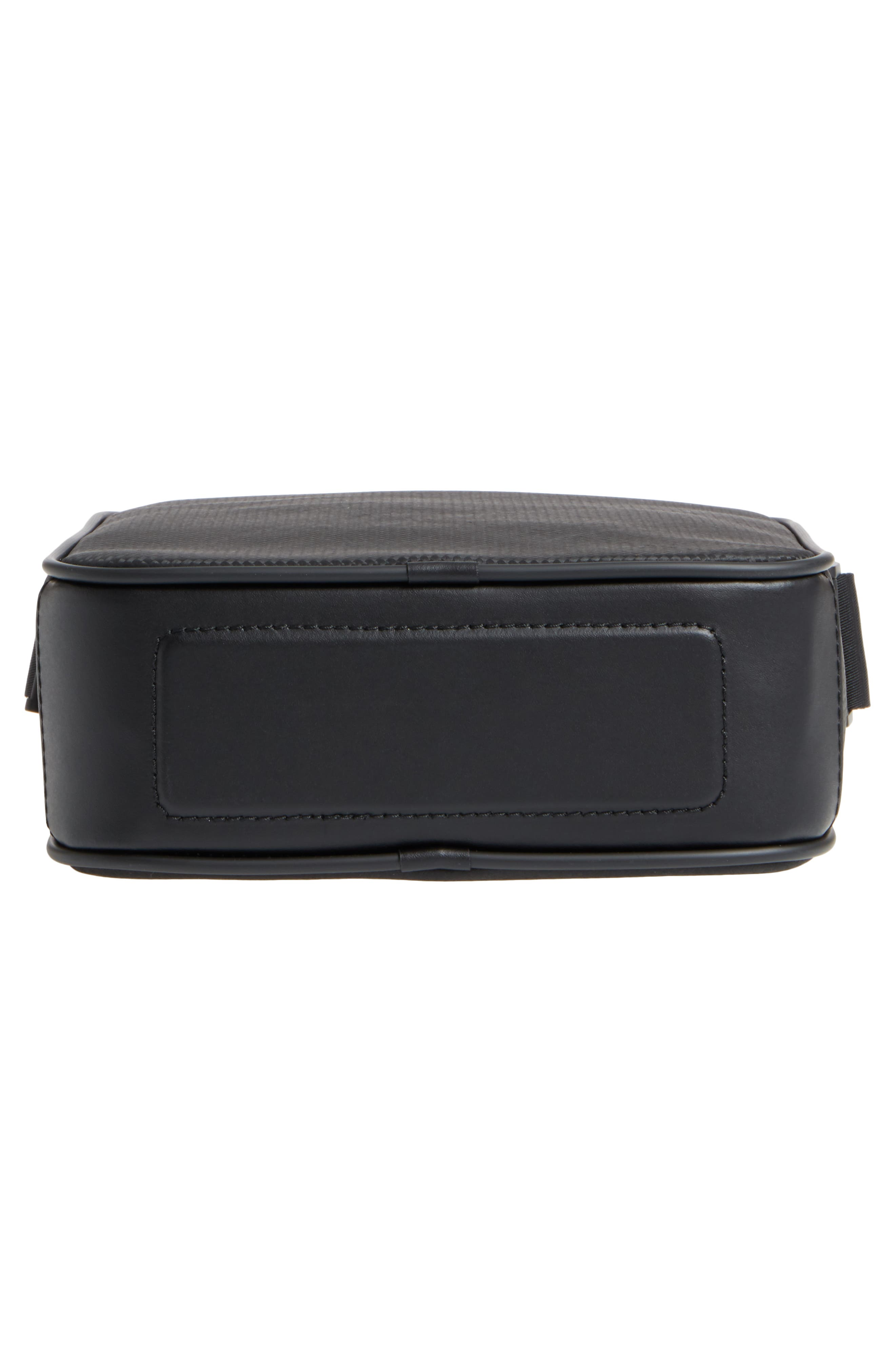 Extreme Reporter Leather Bag,                             Alternate thumbnail 6, color,                             Black