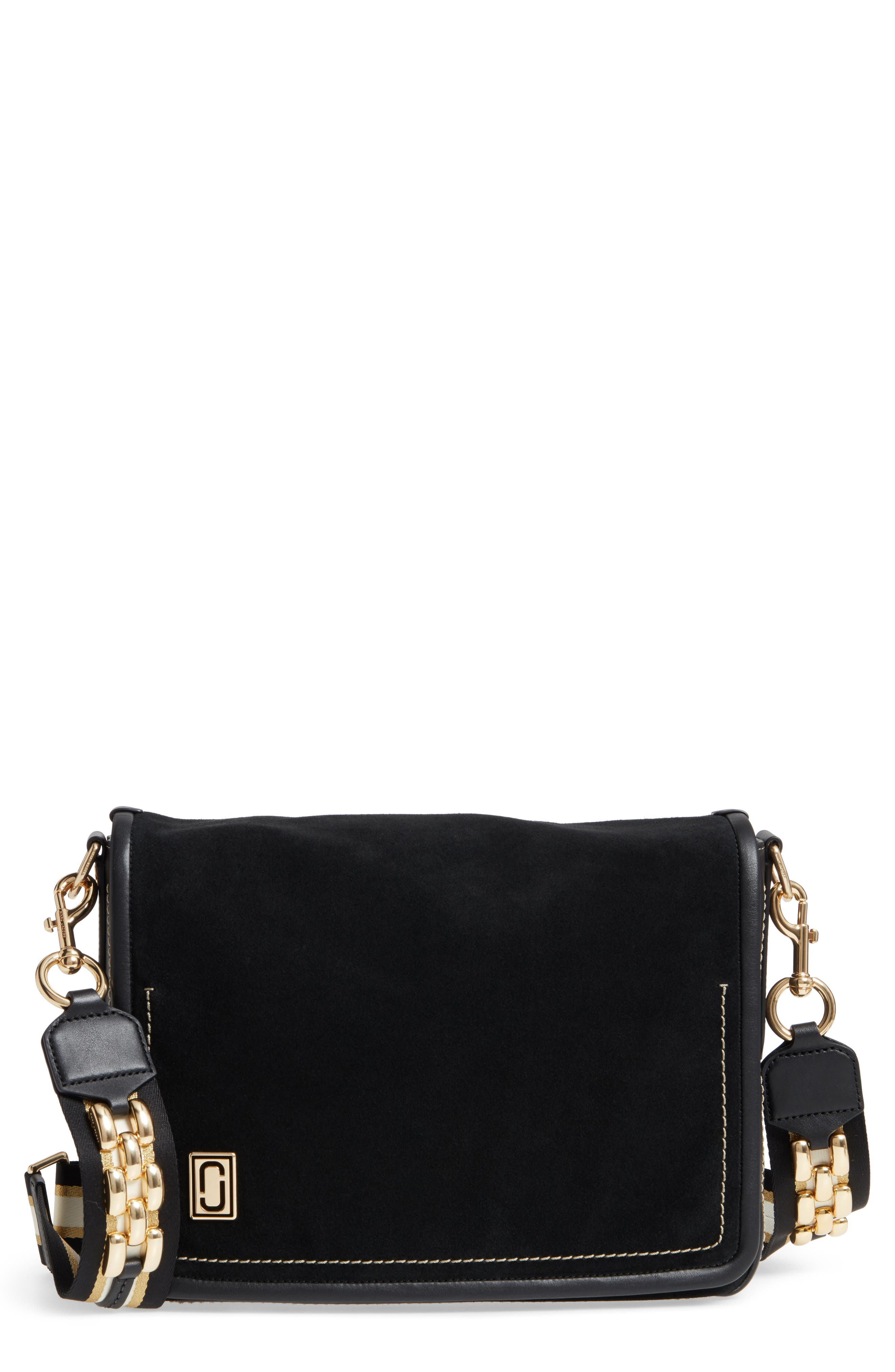 Main Image - MARC JACOBS The Squeeze Suede Shoulder Bag