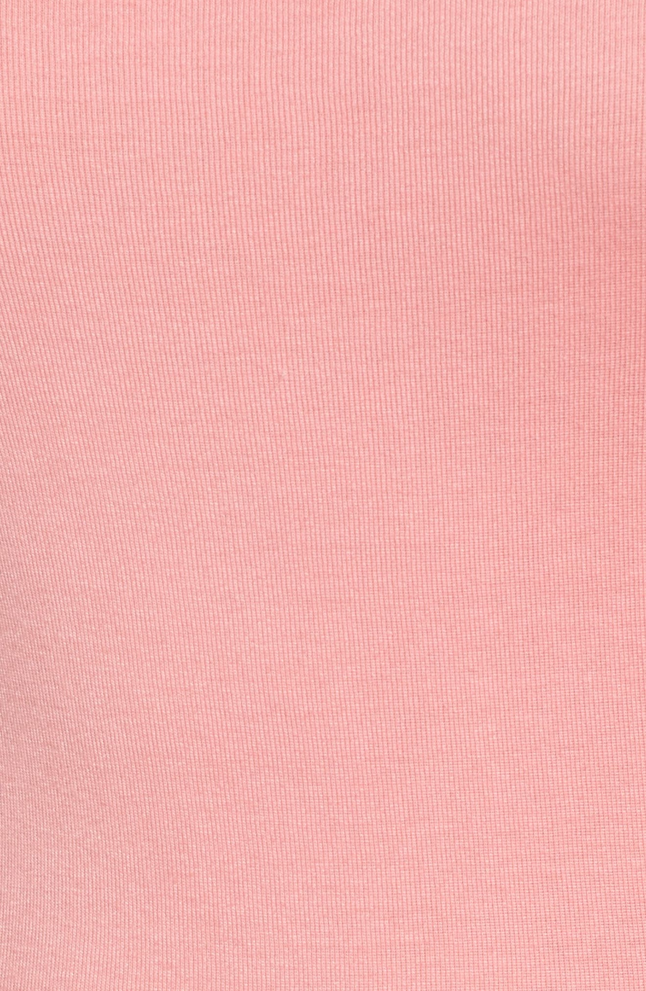 Ballet Neck Cotton & Modal Knit Elbow Sleeve Tee,                             Alternate thumbnail 5, color,                             Pink Berry Ice