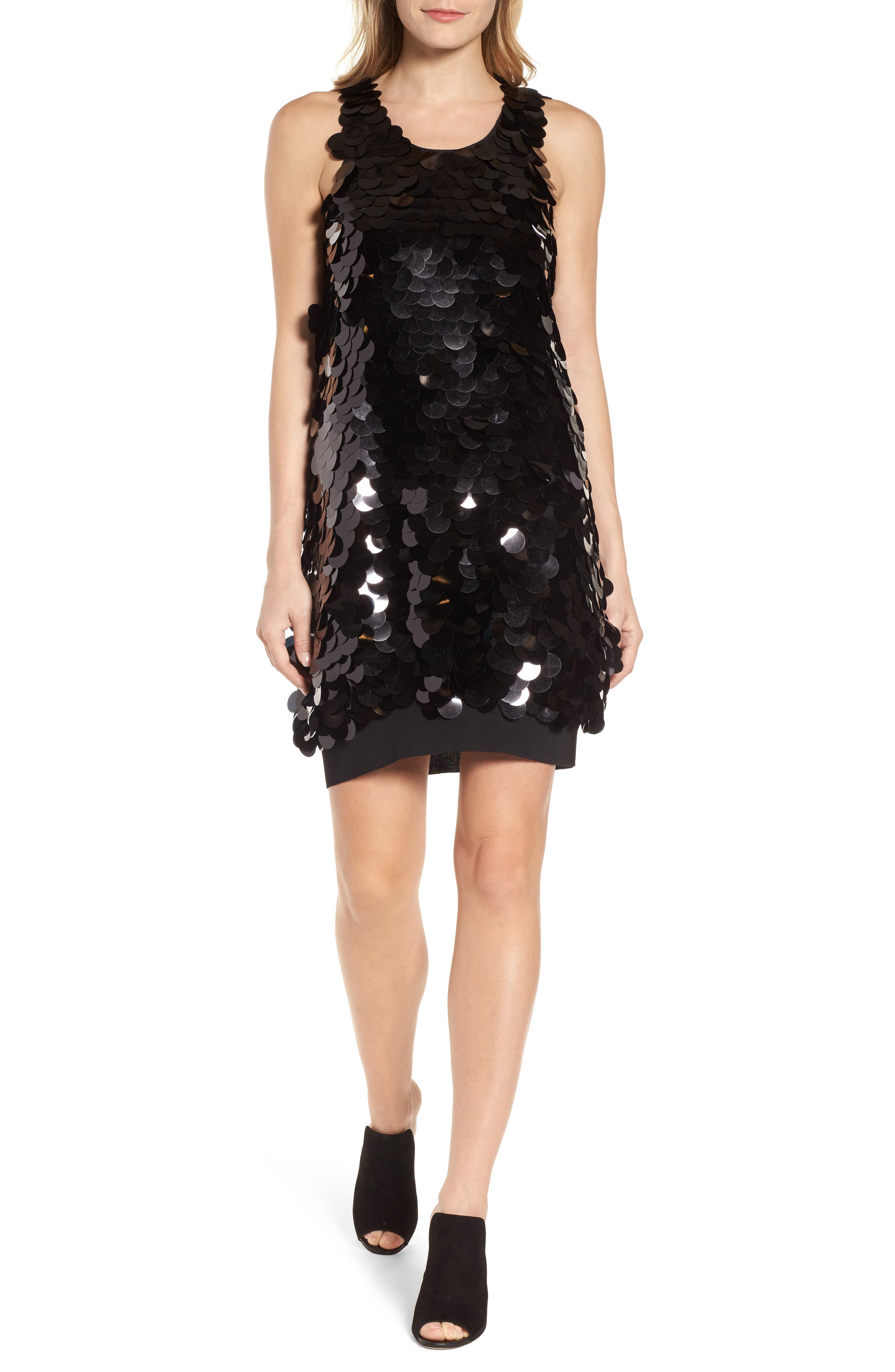 Alternate Image 1 Selected - Kenneth Cole New York Paillette Swing Dress