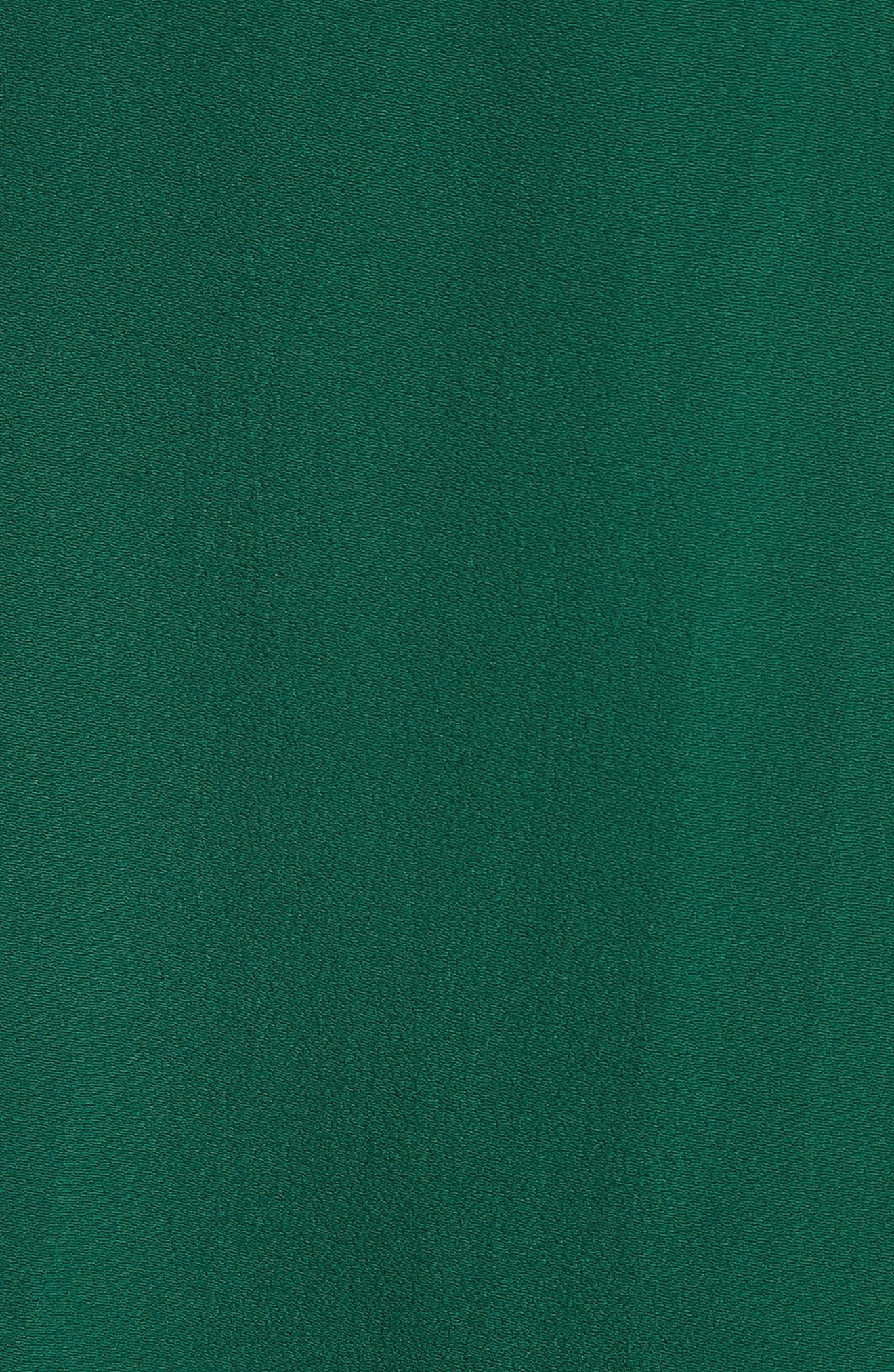 Crepe Cross Back Gown,                             Alternate thumbnail 6, color,                             Emerald