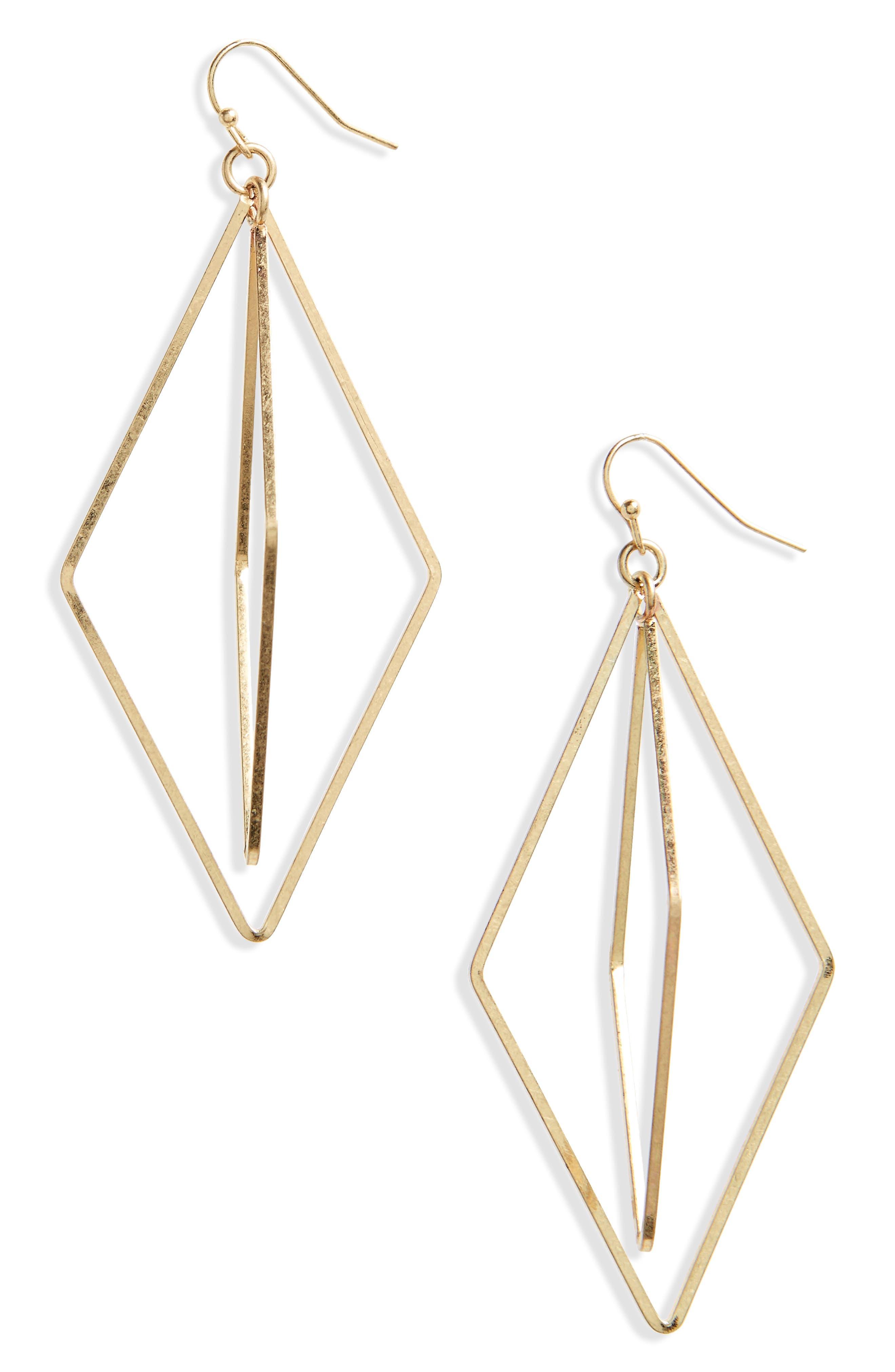 Alternate Image 1 Selected - Canvas Jewelry Orbital Geo Earrings