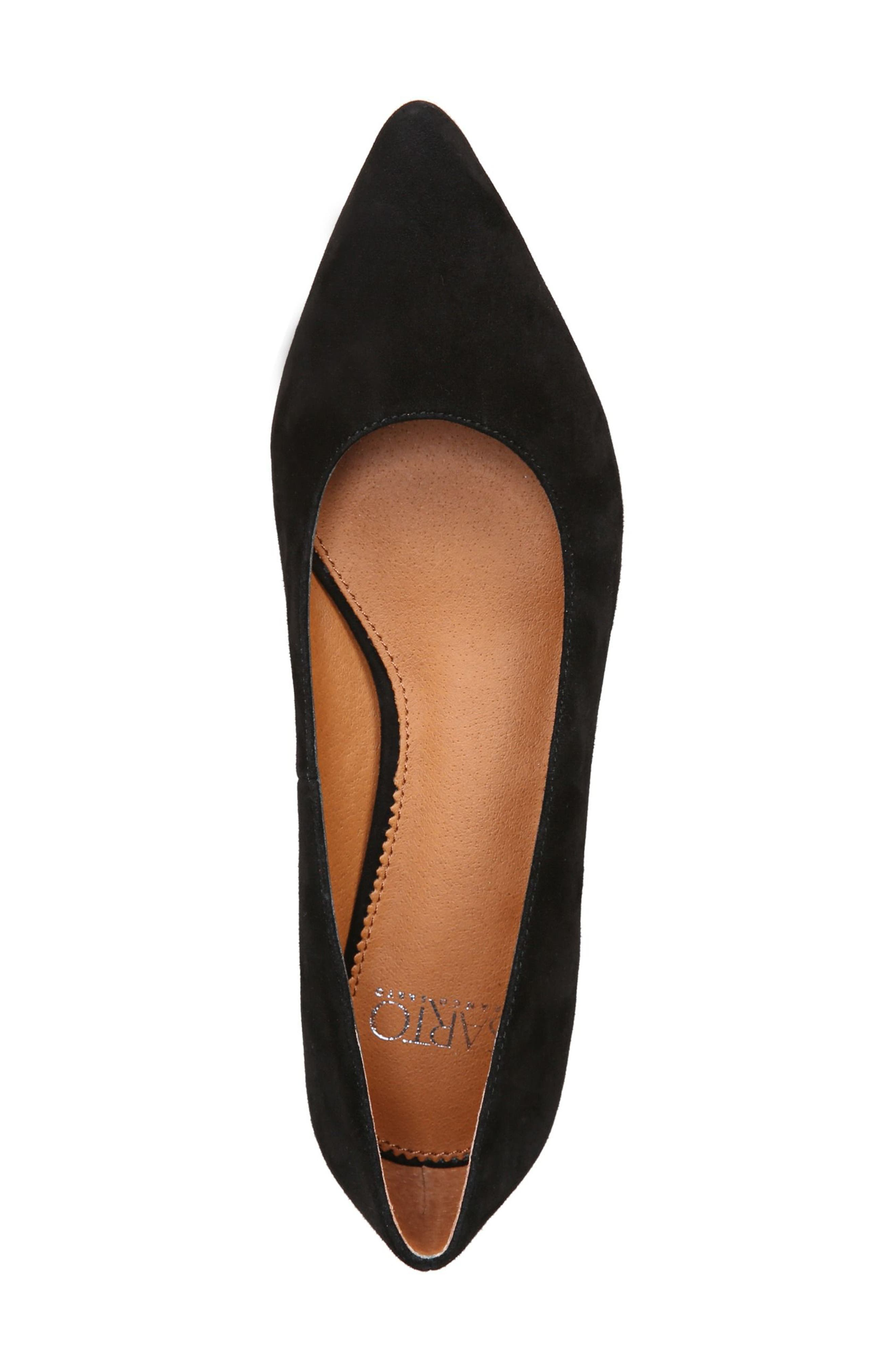 Dexie Pointy Toe Flat,                             Alternate thumbnail 8, color,                             Black Suede