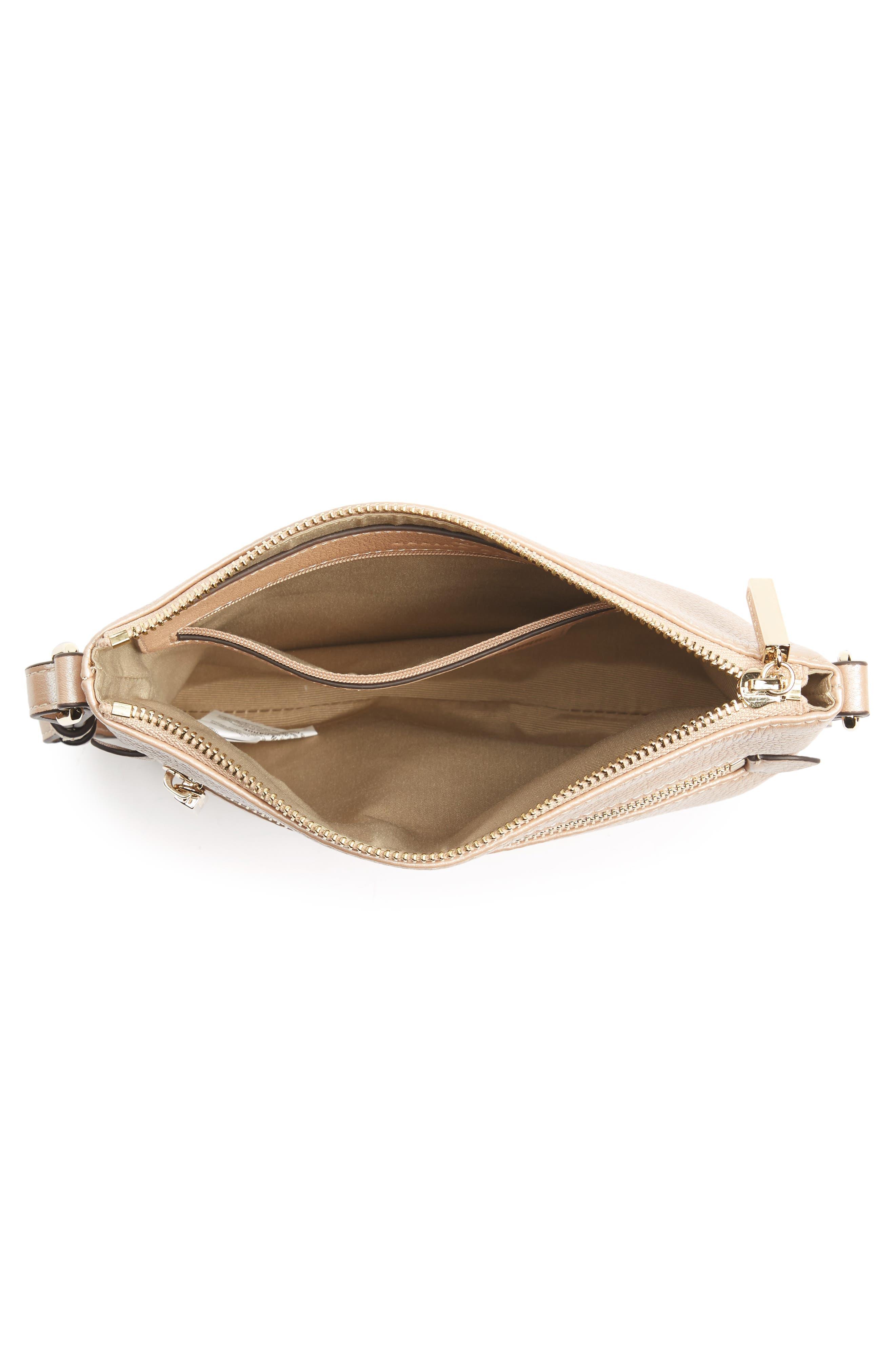 Céline Dion Adagio Leather Crossbody Bag,                             Alternate thumbnail 5, color,                             Rose Gold