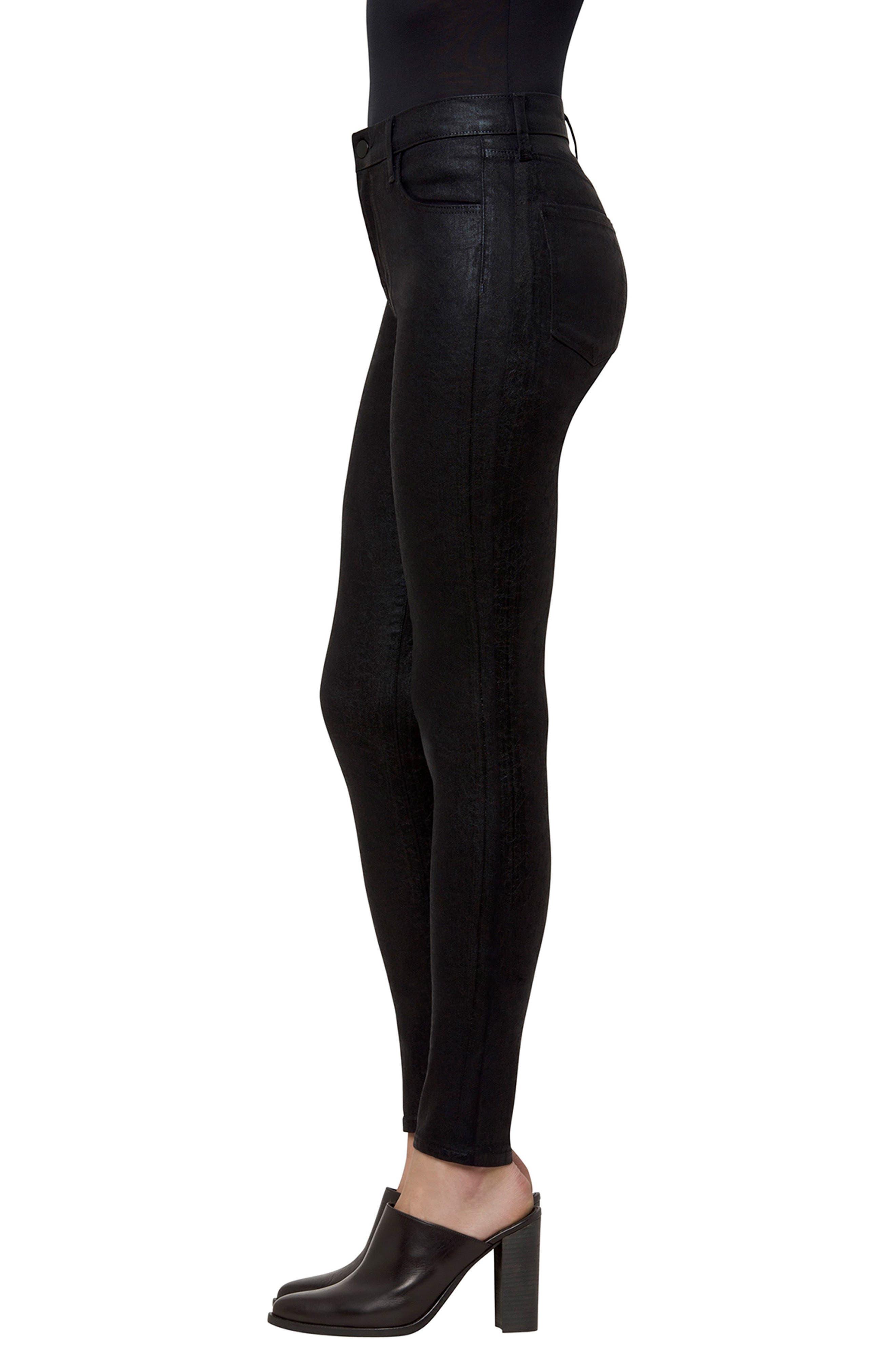 Maria High Waist Velvet Skinny Jeans,                             Alternate thumbnail 3, color,                             Crystalline