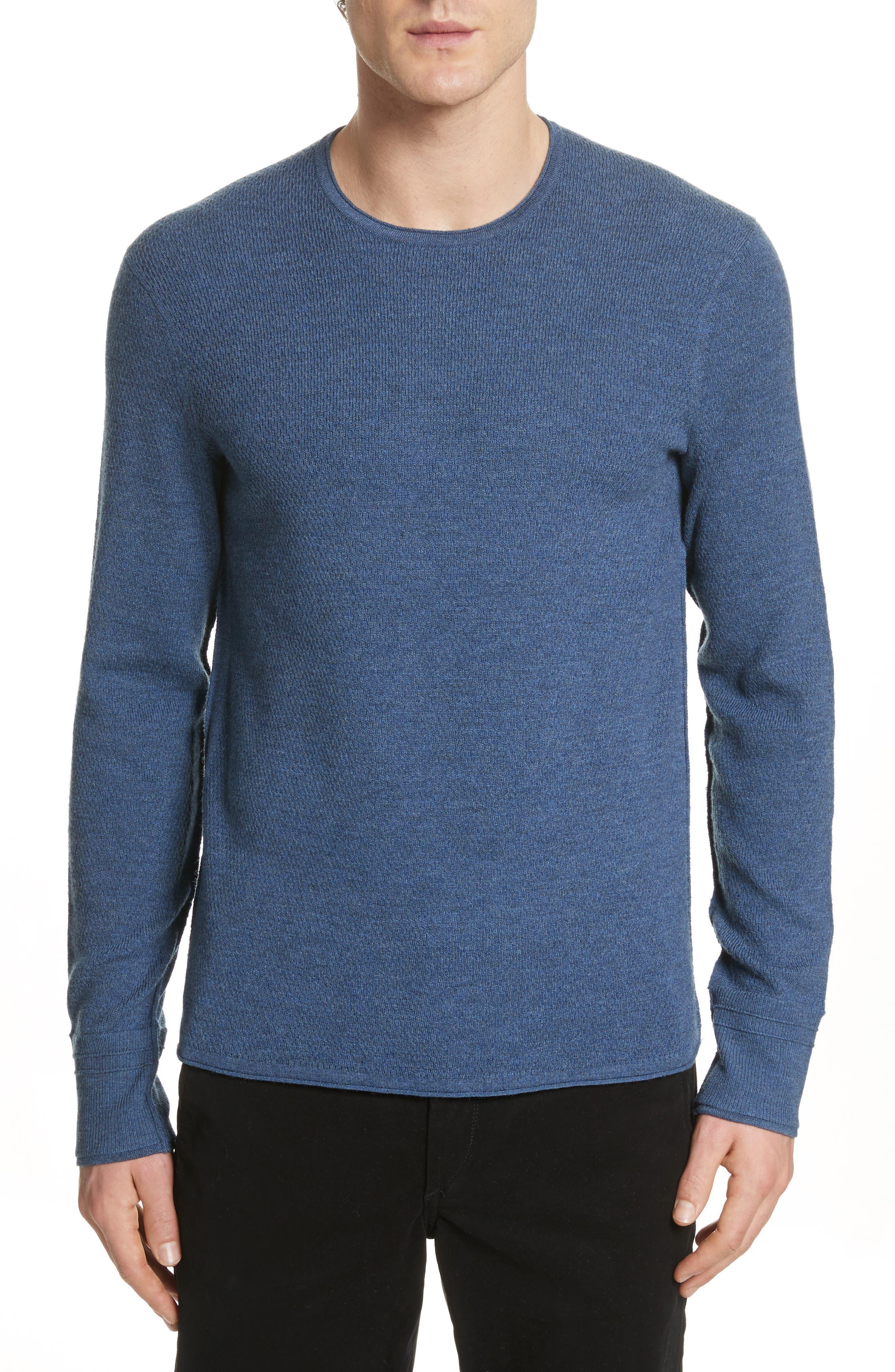 Gregory Merino Wool Blend Crewneck Sweater,                         Main,                         color, Heather Blue