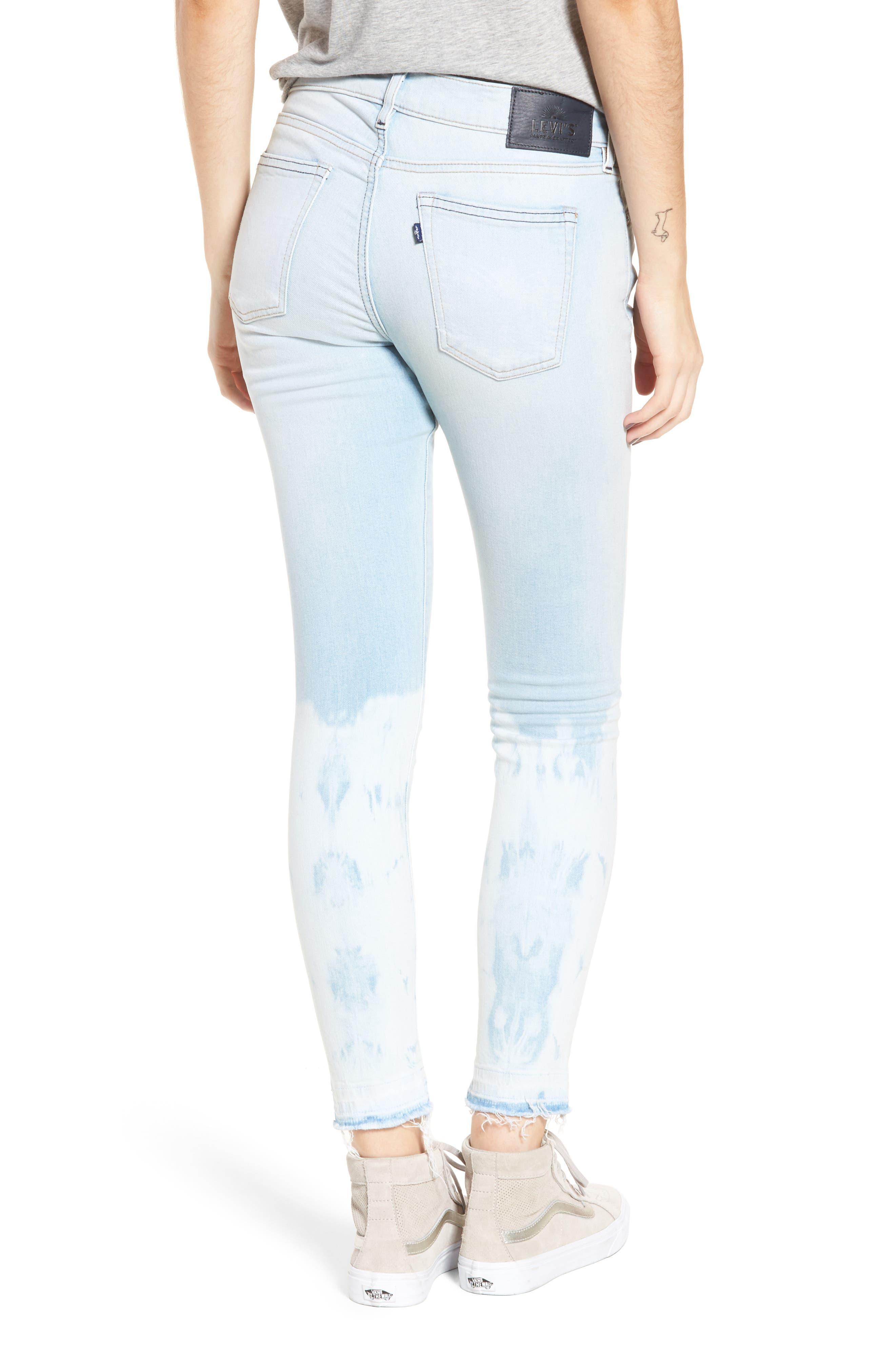 Empire Ankle Skinny Jeans,                             Alternate thumbnail 2, color,                             Beach Break