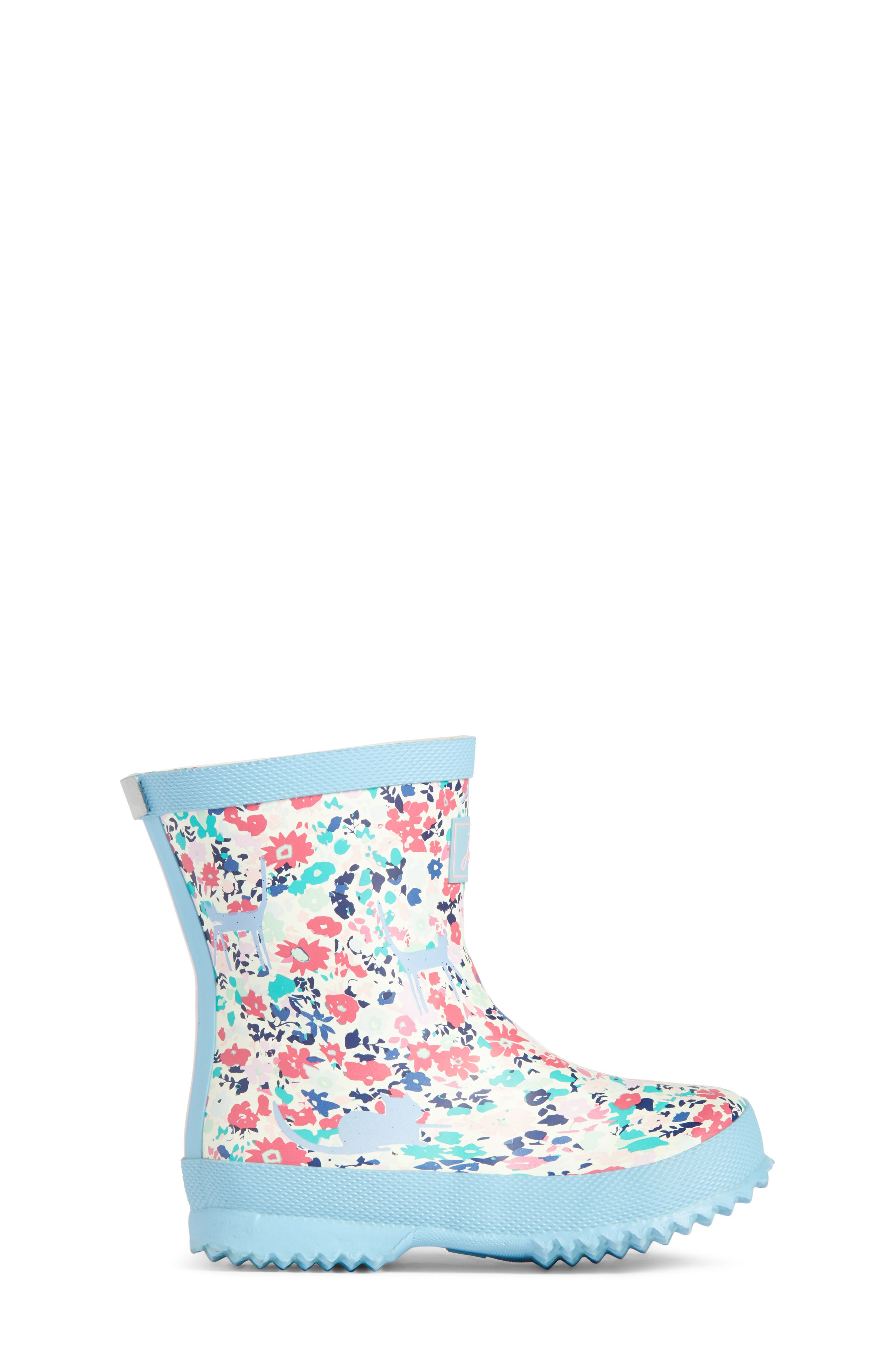Baby Welly Print Waterproof Boot,                             Alternate thumbnail 3, color,                             Pretty Kitty Ditsy