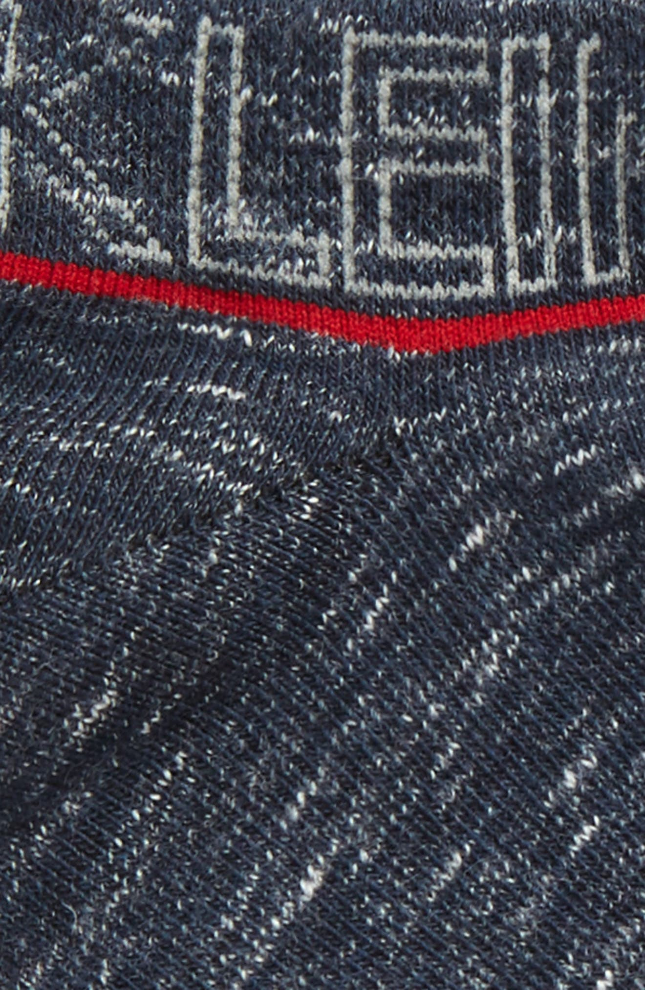 Short Logo Socks,                             Alternate thumbnail 2, color,                             Blue Granite Heather