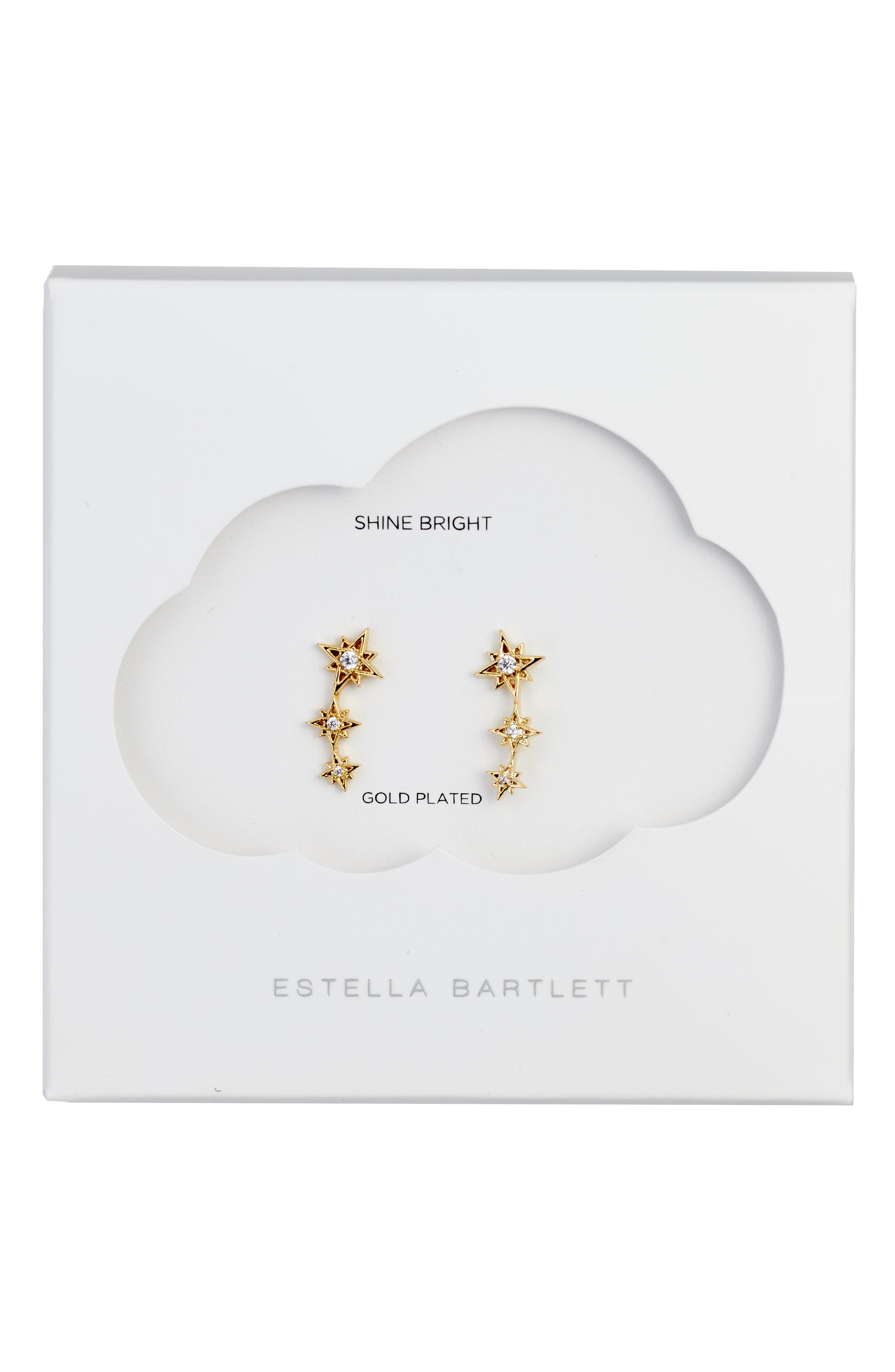 Star Earrings,                         Main,                         color, Gold