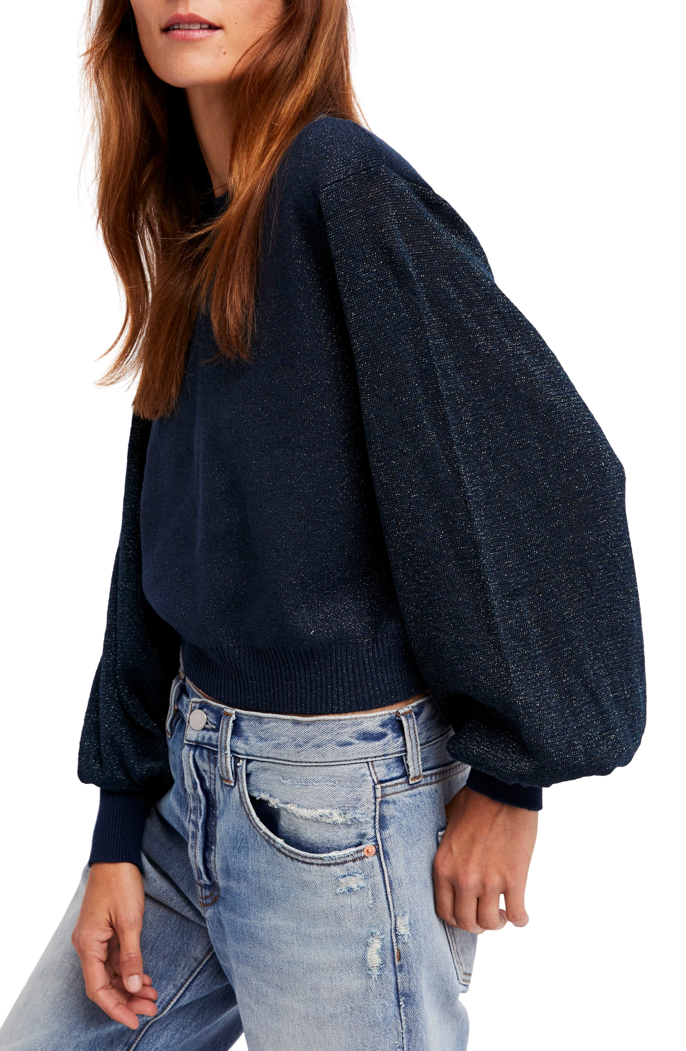 Let it Shine Sweater,                         Main,                         color, Navy