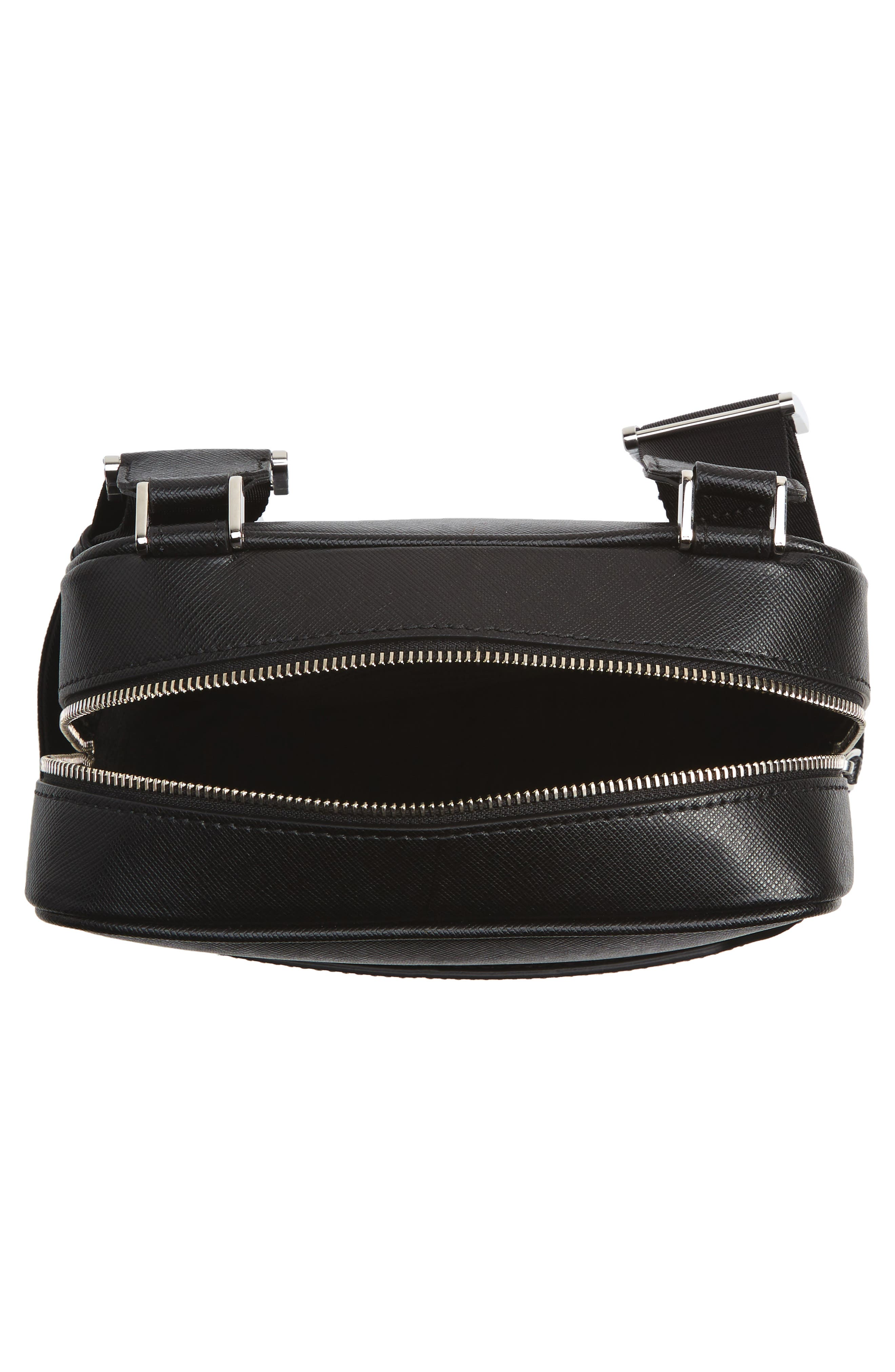 Sartorial North South Leather Bag,                             Alternate thumbnail 4, color,                             Black