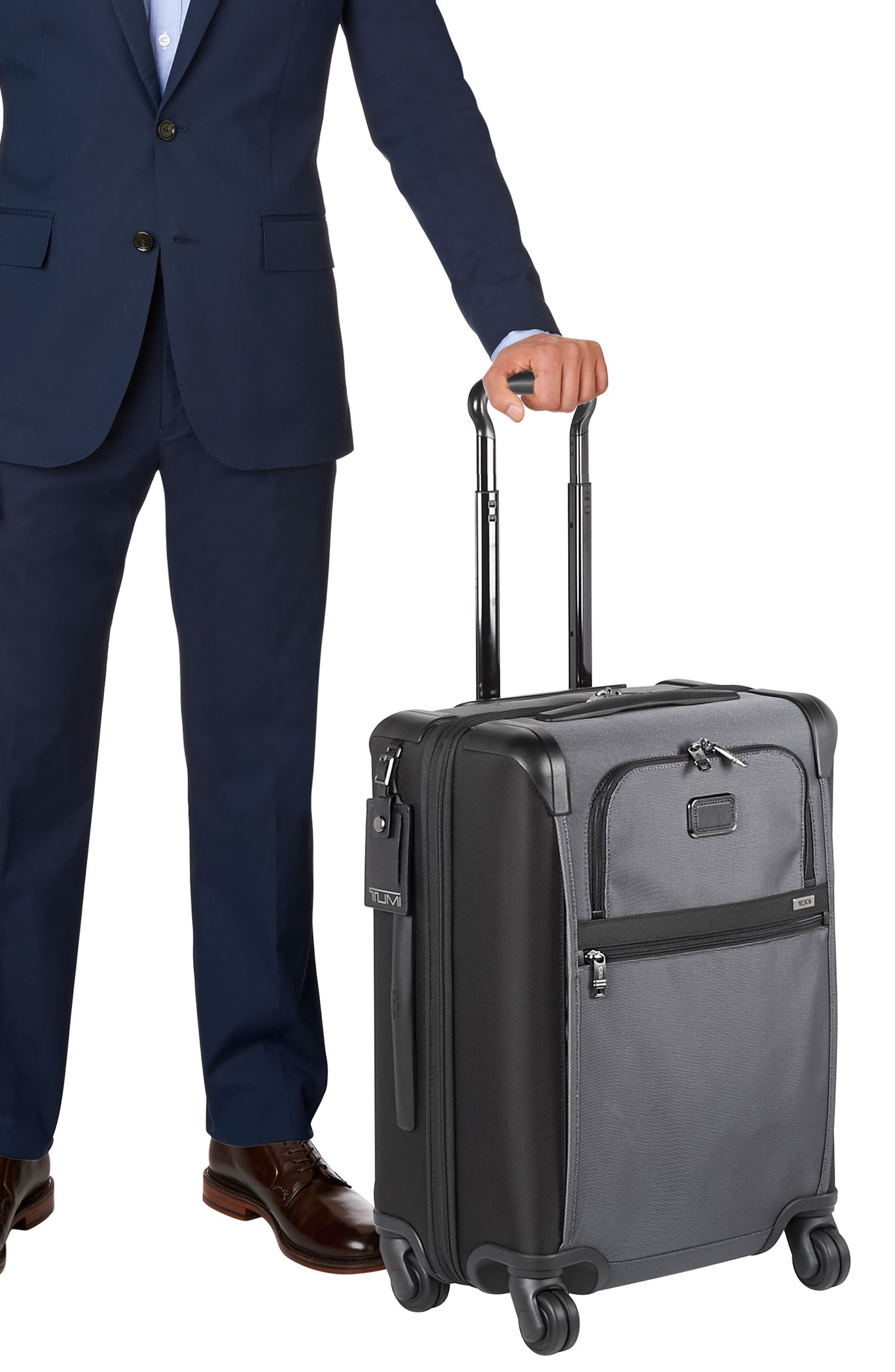 Alpha 2 22-Inch Continental Wheeled Carry-On,                             Alternate thumbnail 6, color,                             Pewter