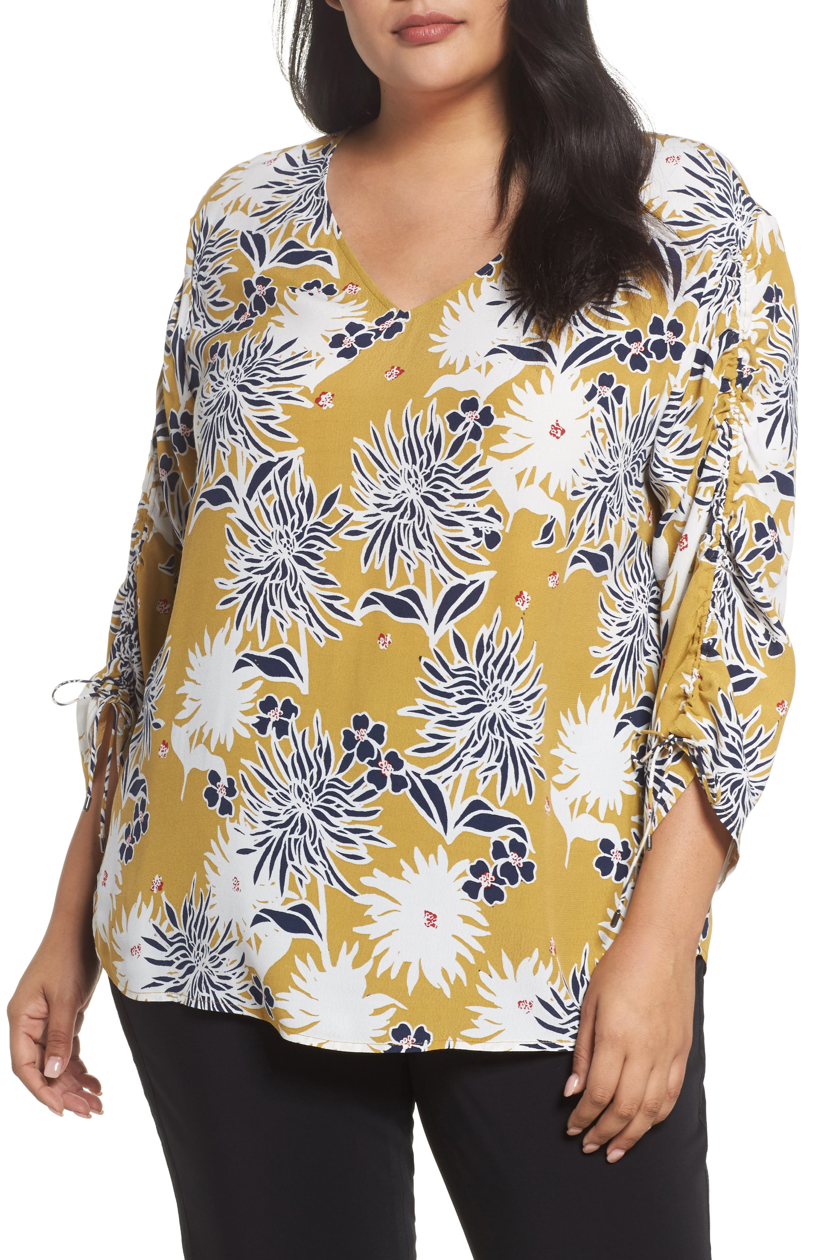 Sejour Cinched Sleeve Top