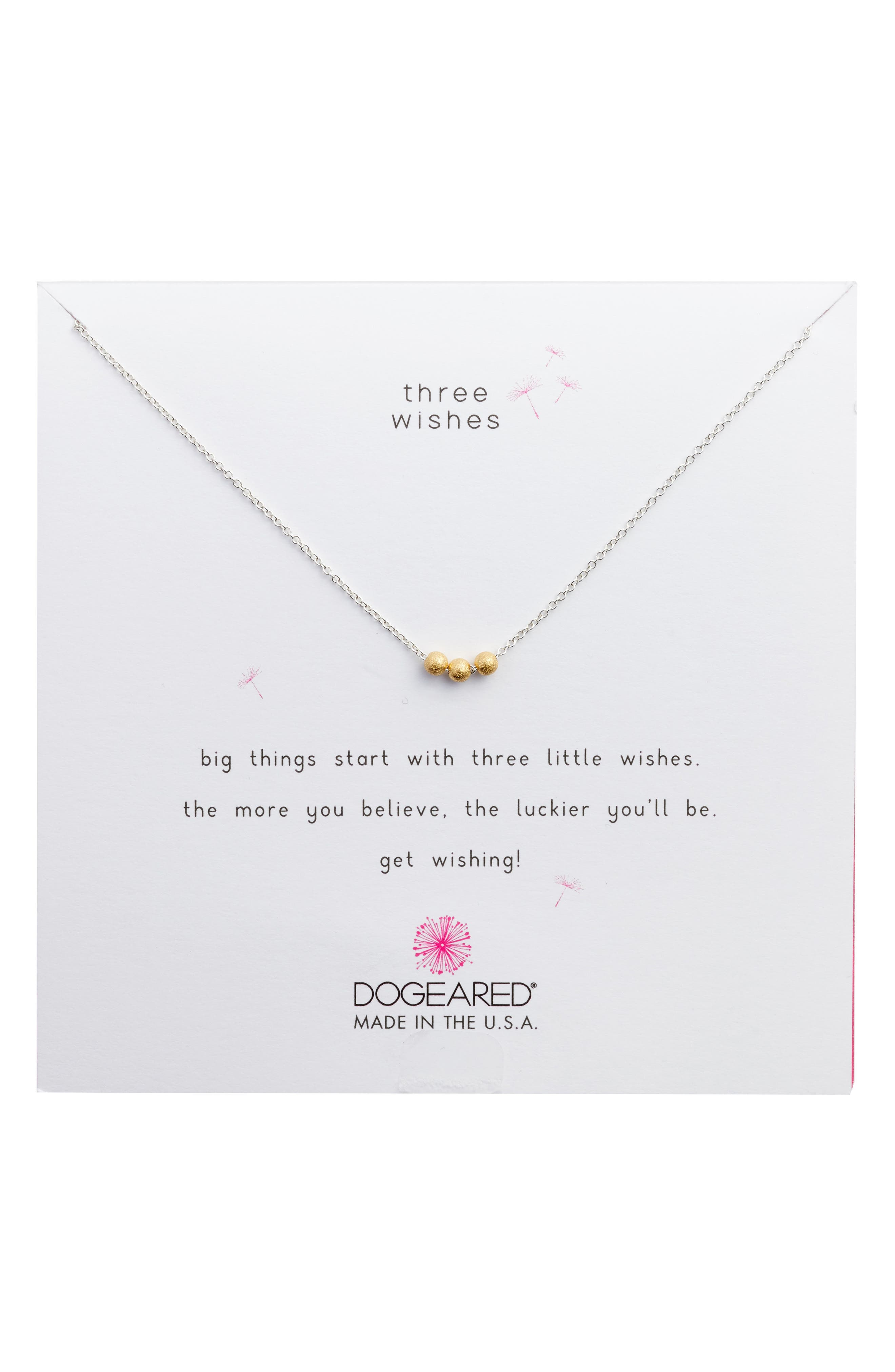 Dogeared 3 Wishes Charm Necklace