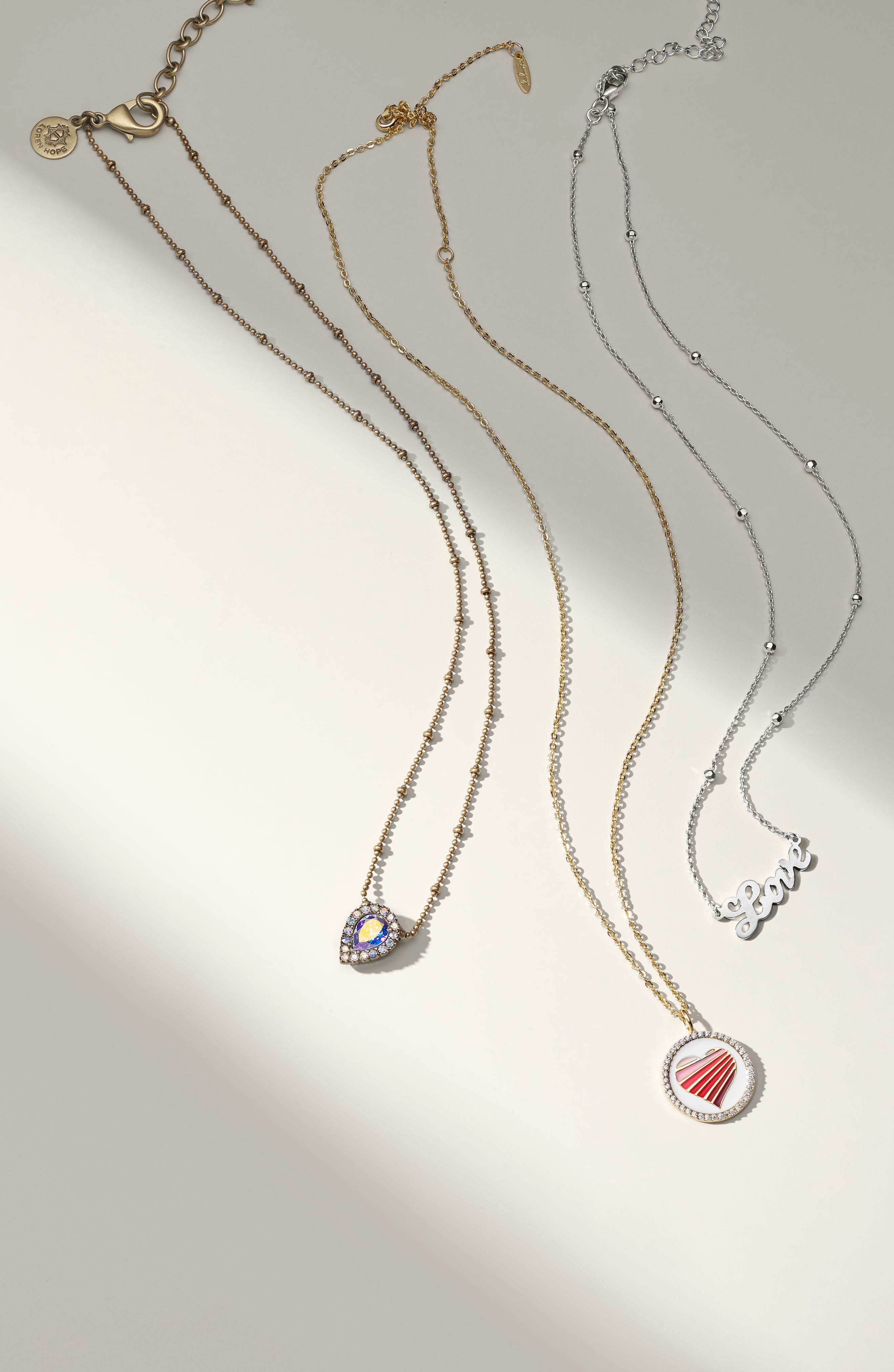 Love Pendant Necklace,                             Alternate thumbnail 3, color,
