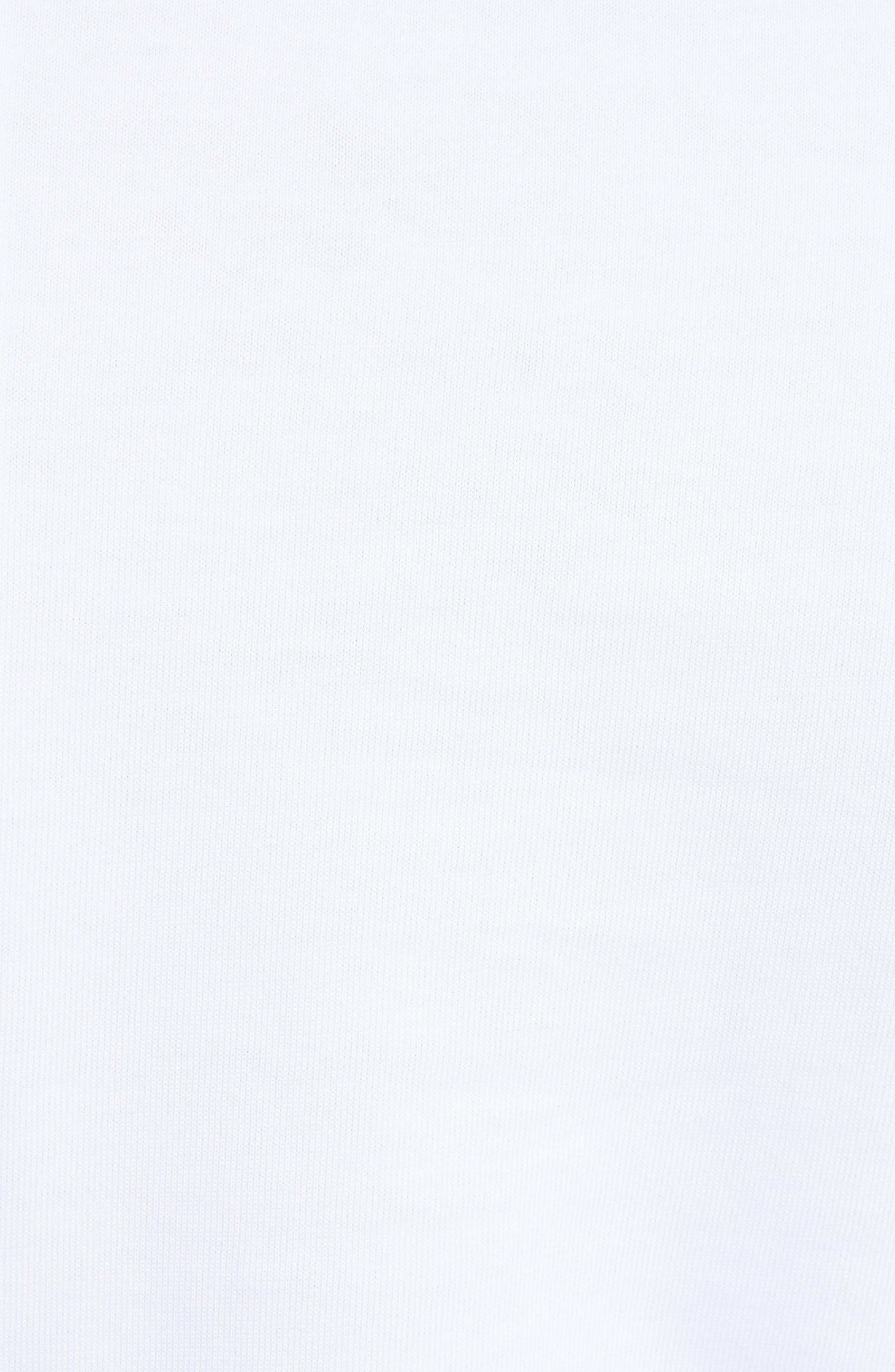 Crop Tee,                             Alternate thumbnail 5, color,                             White