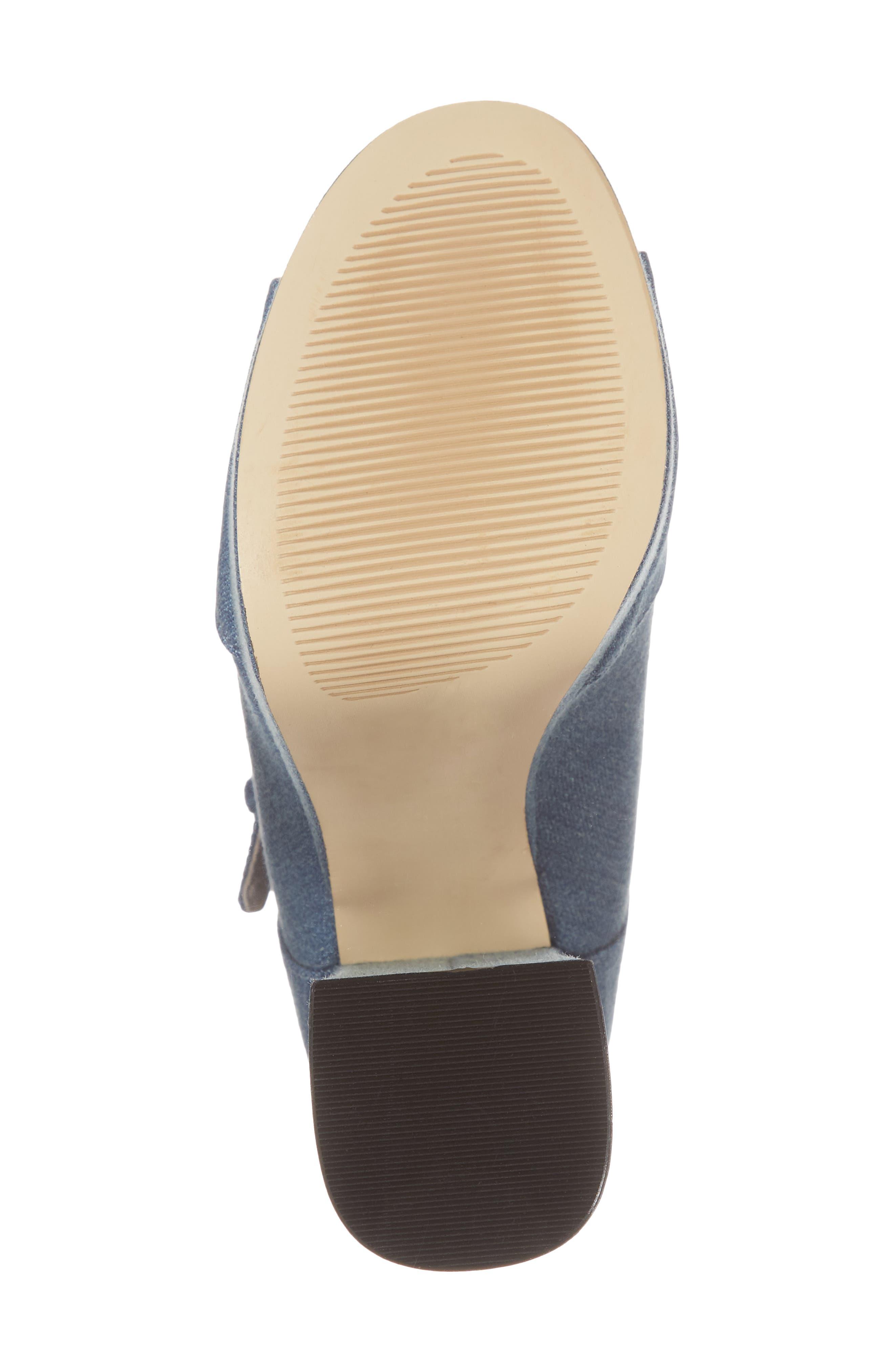Haimi Sequin Sock Bootie,                             Alternate thumbnail 6, color,                             Denim