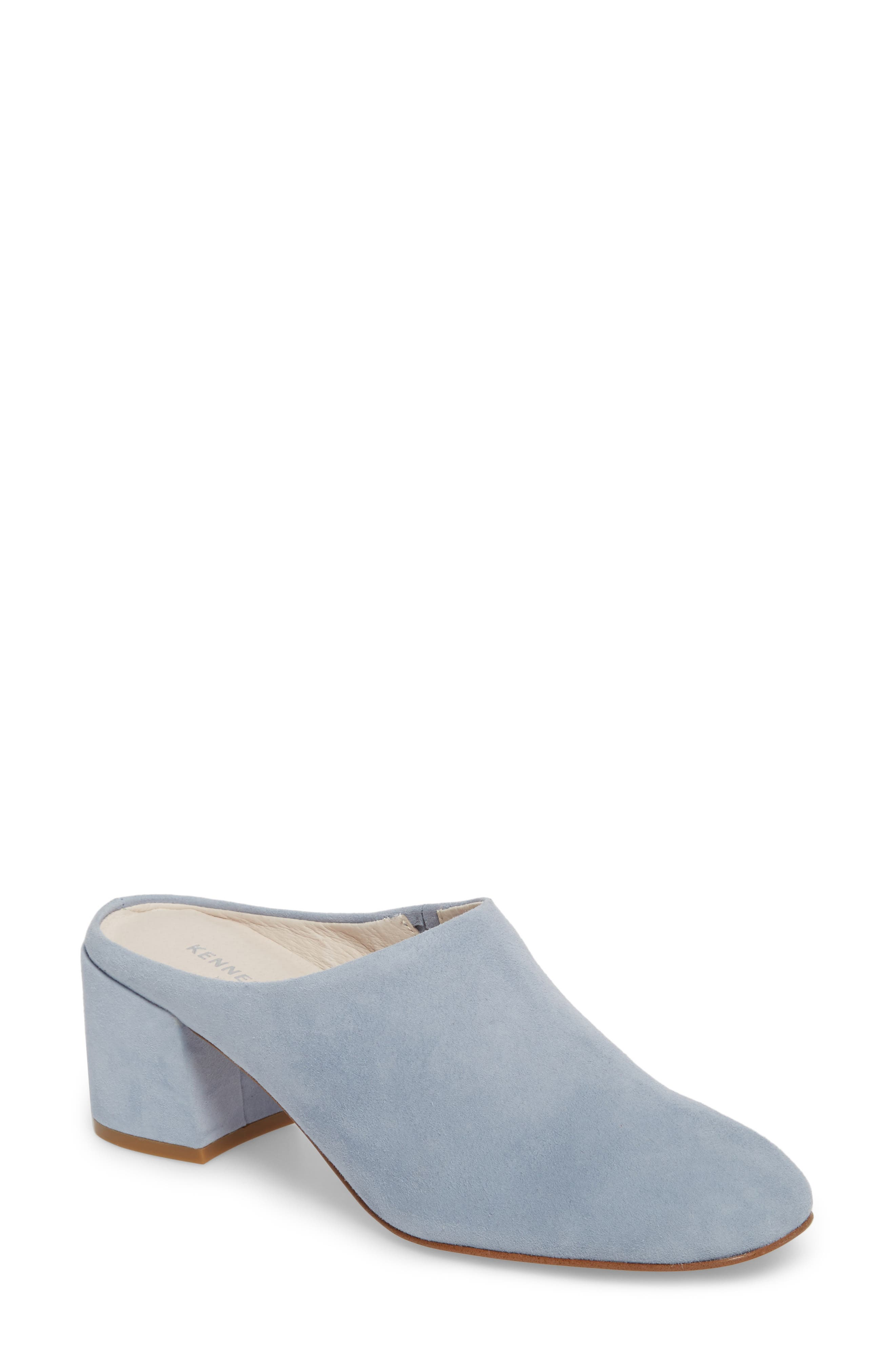 Edith Mule,                             Main thumbnail 1, color,                             Storm Suede