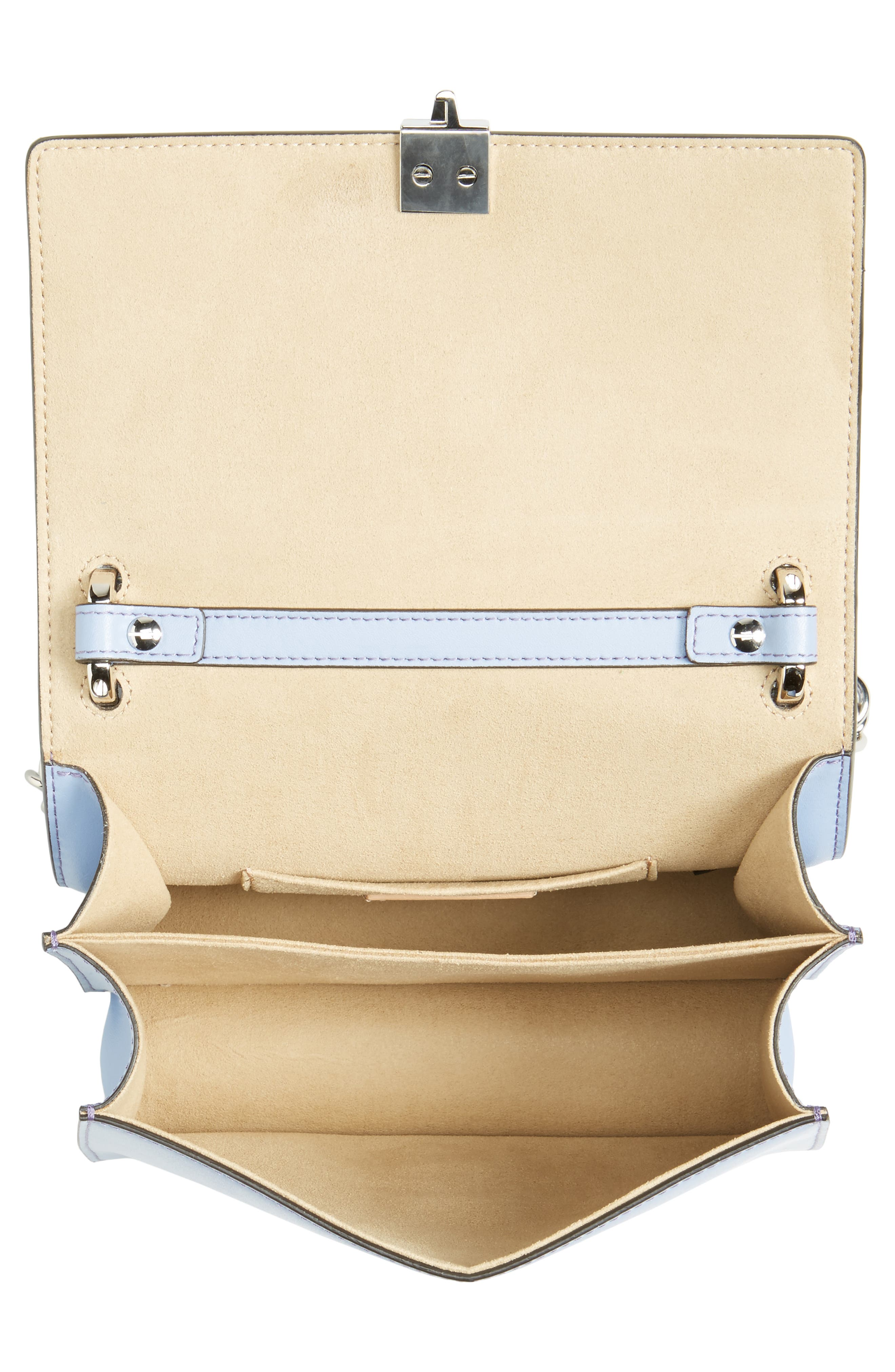 Mini Kan I Leather Shoulder Bag,                             Alternate thumbnail 4, color,                             Sky
