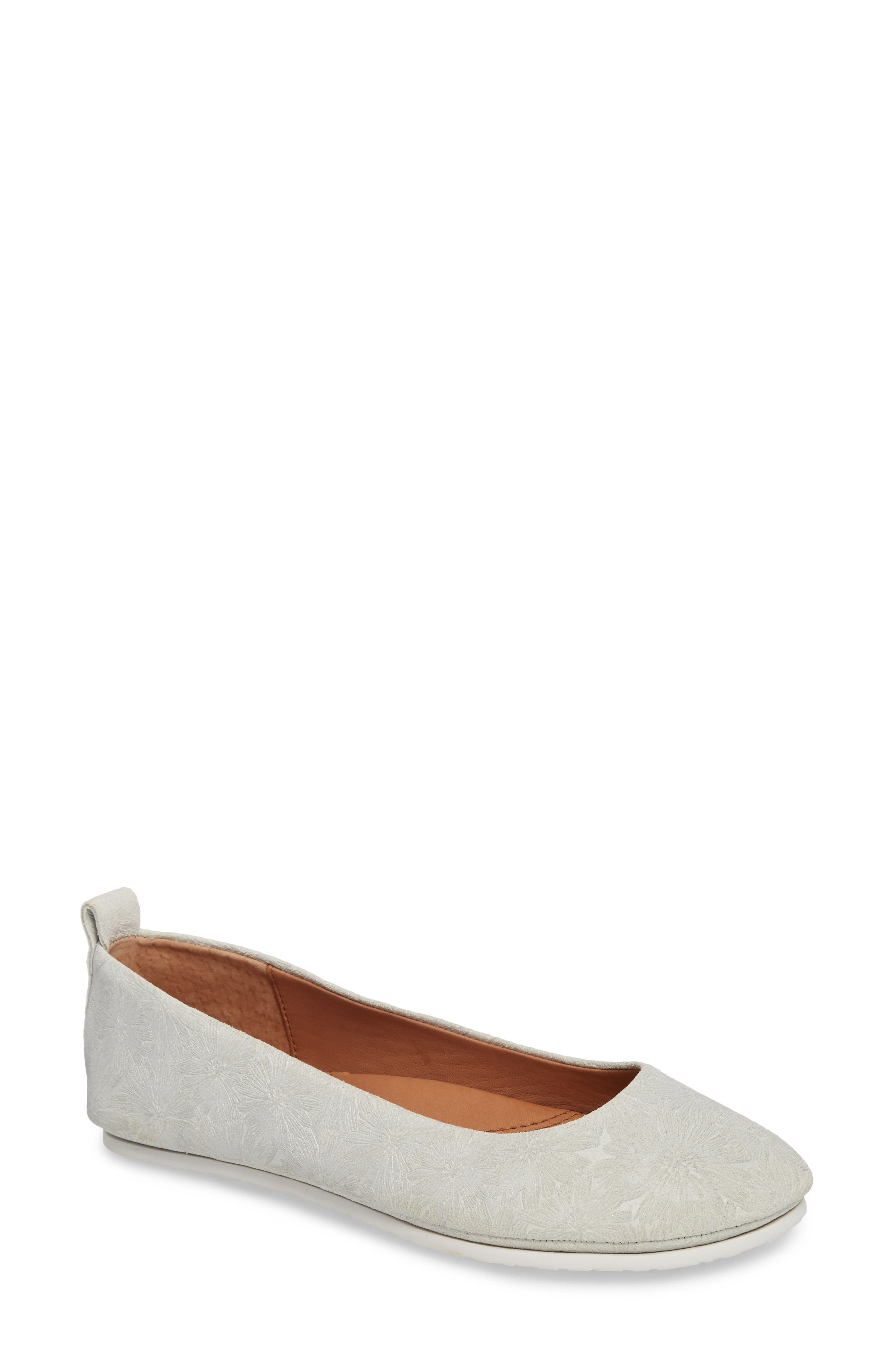 by Kenneth Cole Dana Flat,                             Main thumbnail 1, color,                             Pearl Metallic Leather