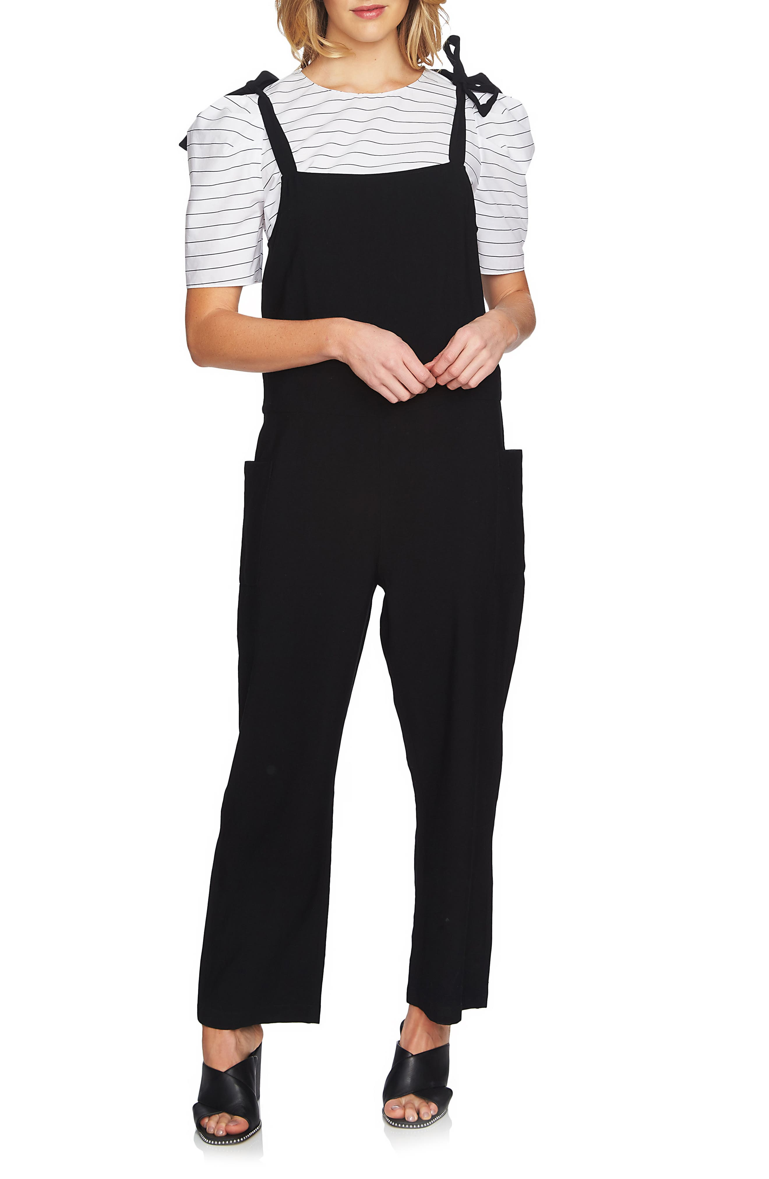 Alternate Image 1 Selected - 1.STATE Tie Shoulder Overalls