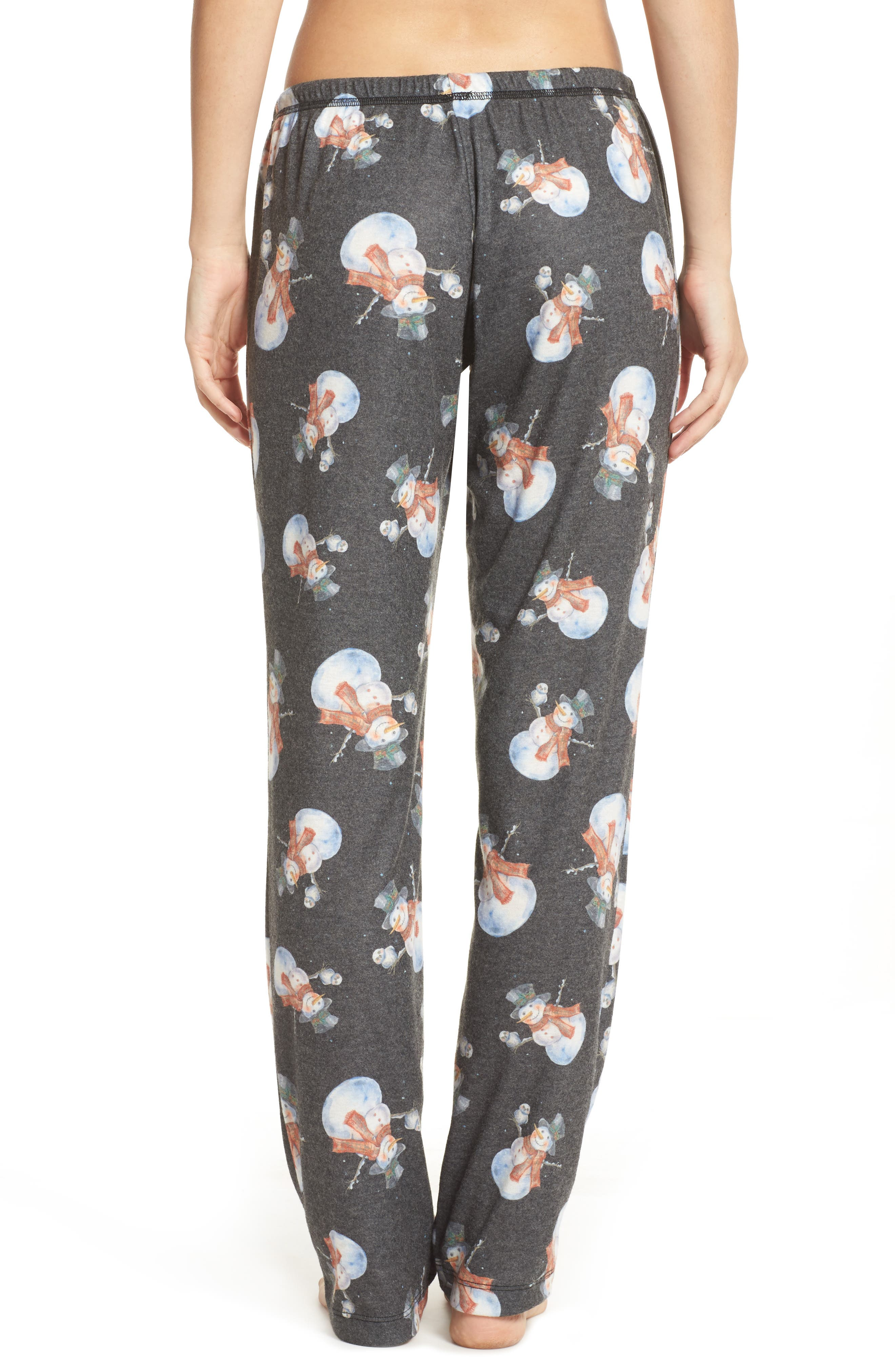 Emma Flannel Pajama Pants,                             Alternate thumbnail 2, color,                             Grey