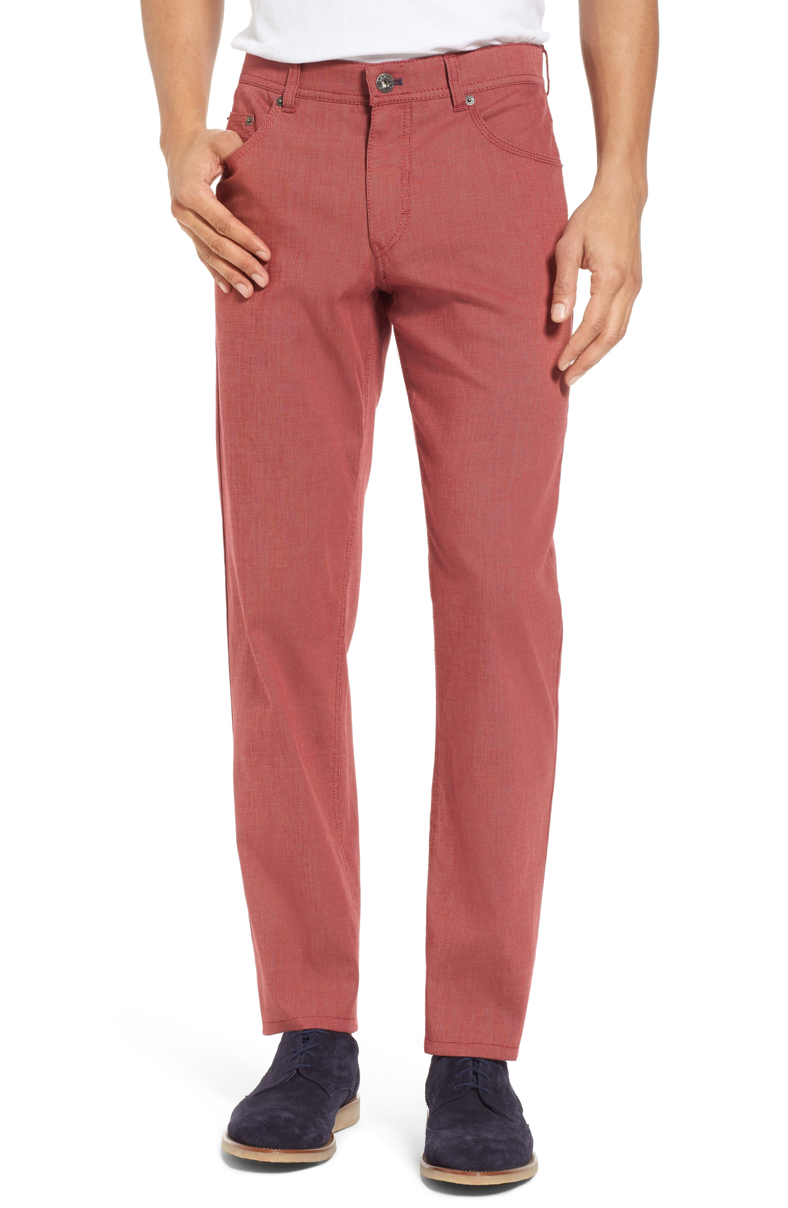 Sensation Stretch Trousers,                             Main thumbnail 1, color,                             Red