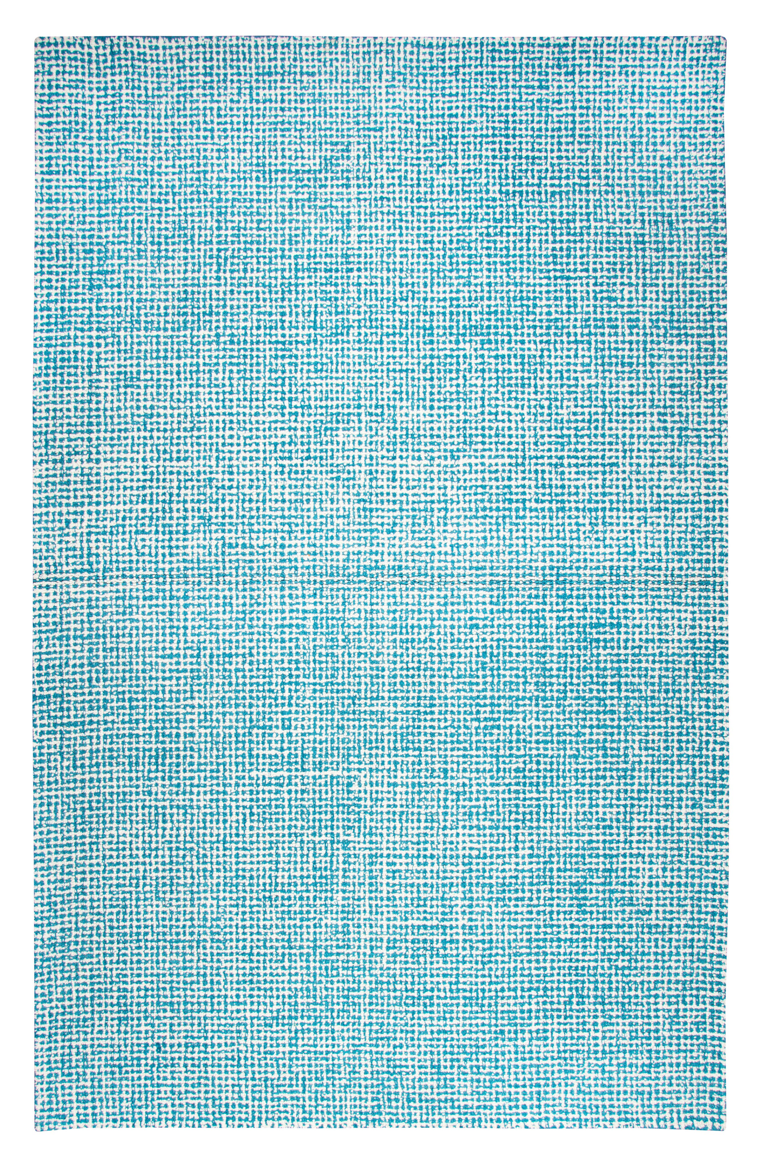 Brindleton Collection Collage Rug,                         Main,                         color, Teal