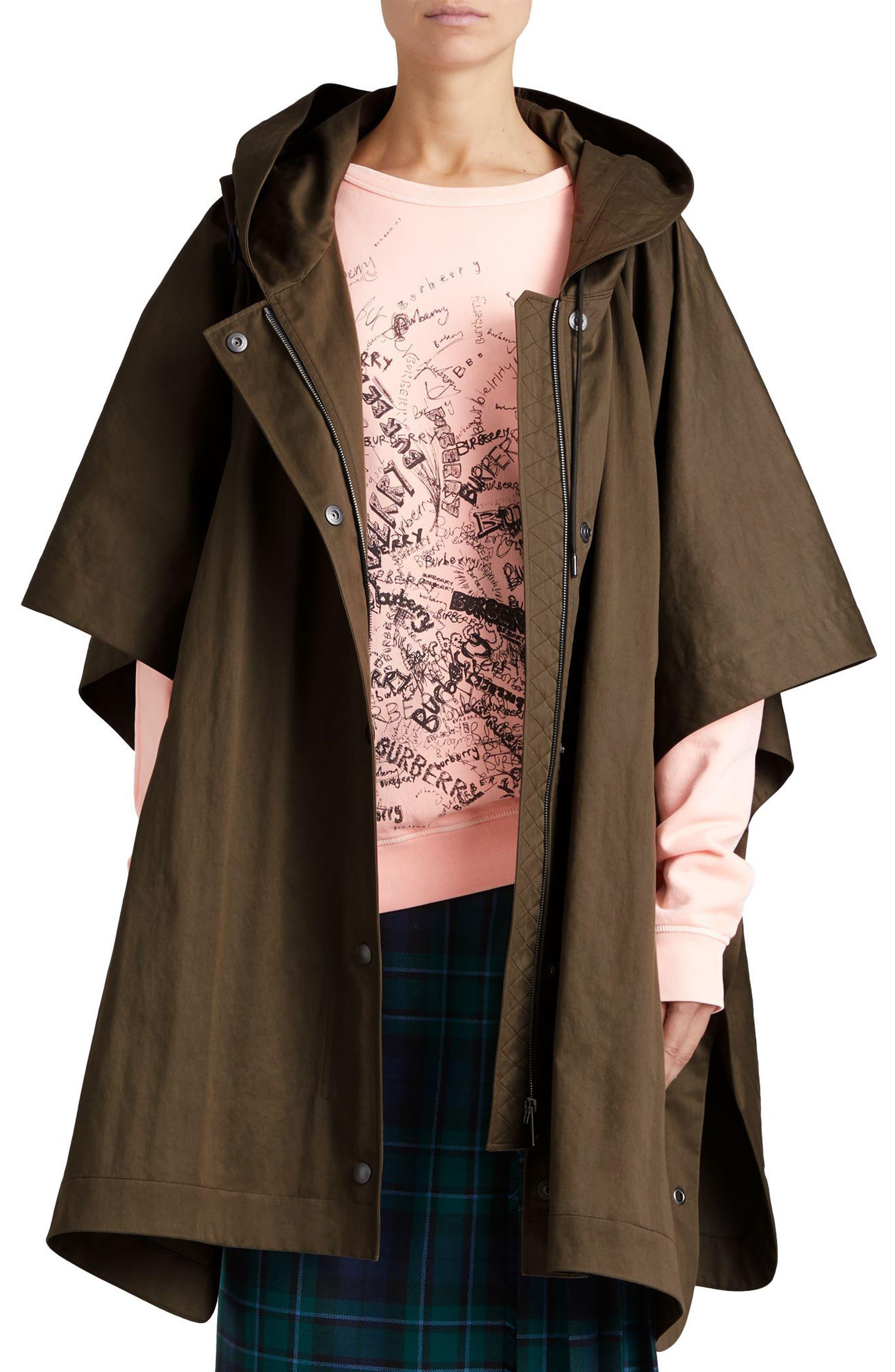 Samdale Swing Coat,                         Main,                         color, Dark Olive