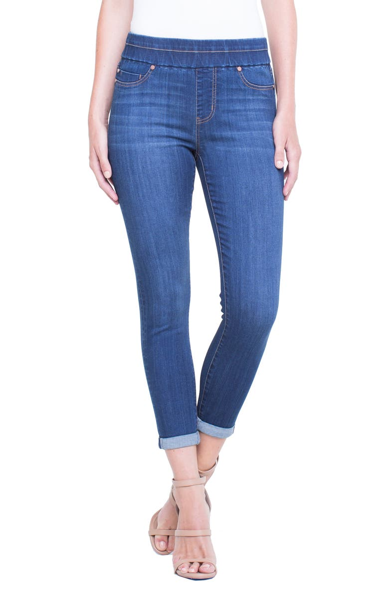Zoe Pull-On Rolled Cuff Crop Jeans
