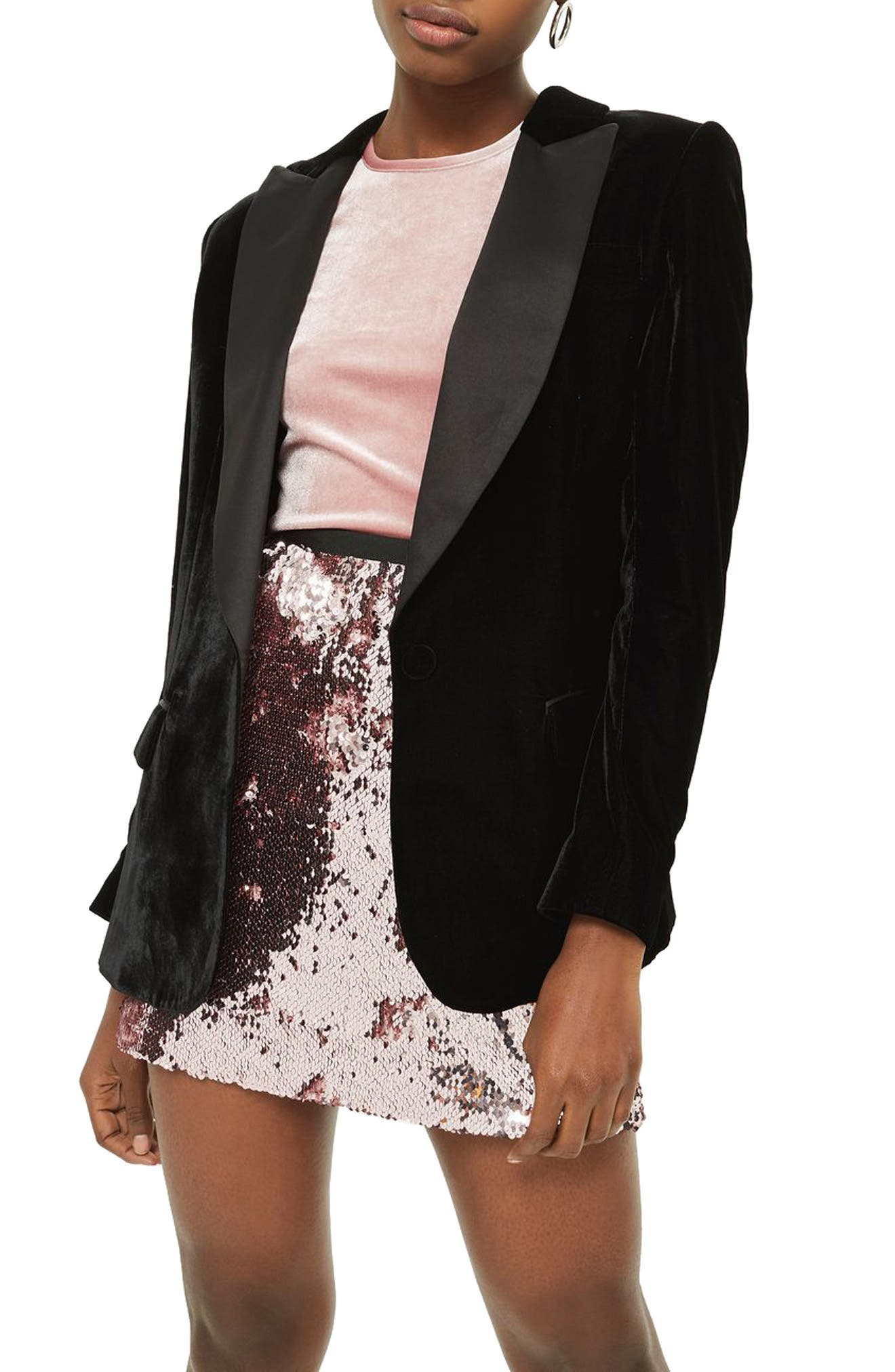 Sequin Miniskirt,                         Main,                         color, Light Pink