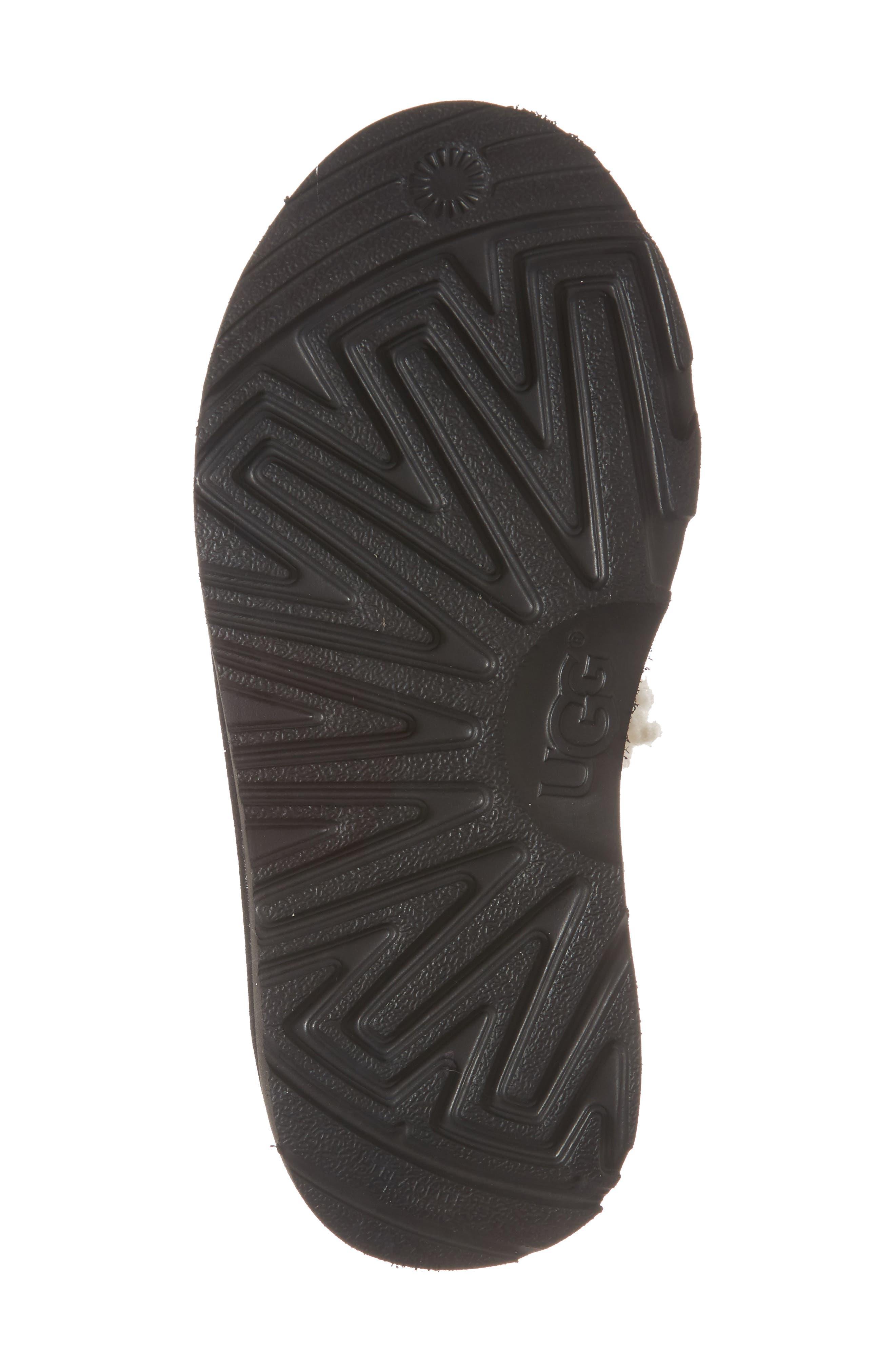 Logo Slide Sandal,                             Alternate thumbnail 6, color,                             Black/ White