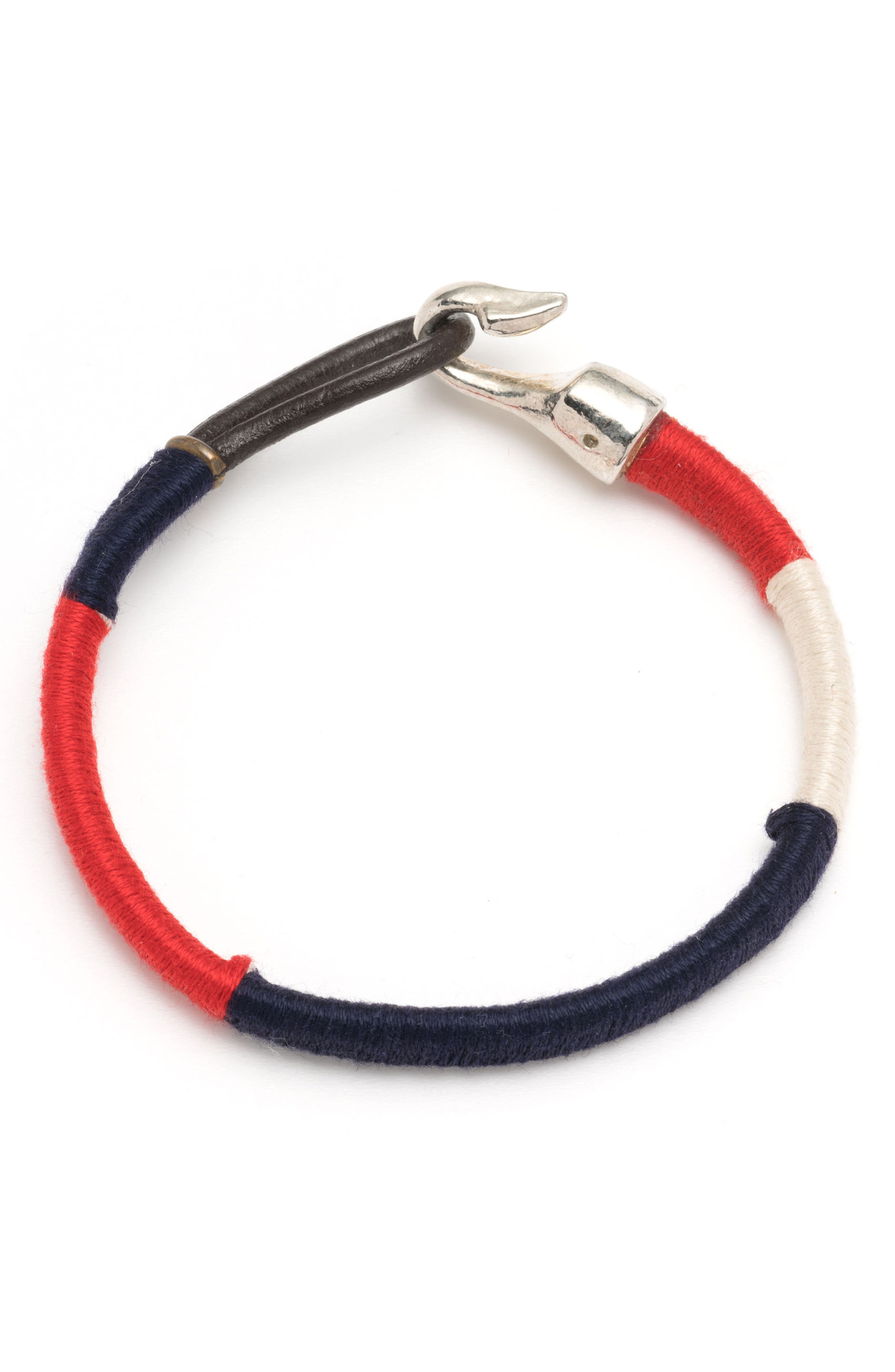 Wrapped Bracelet,                             Main thumbnail 1, color,                             Red