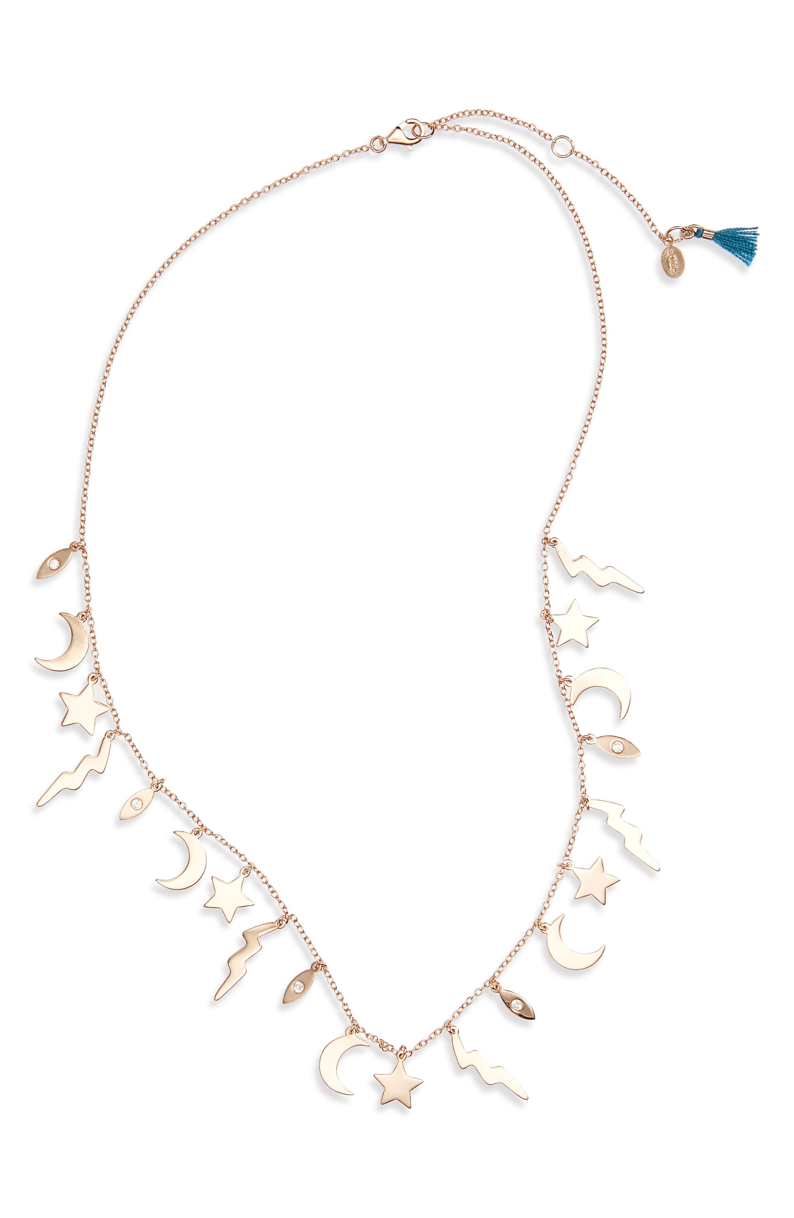 Main Image - Shashi Multi Charm Necklace
