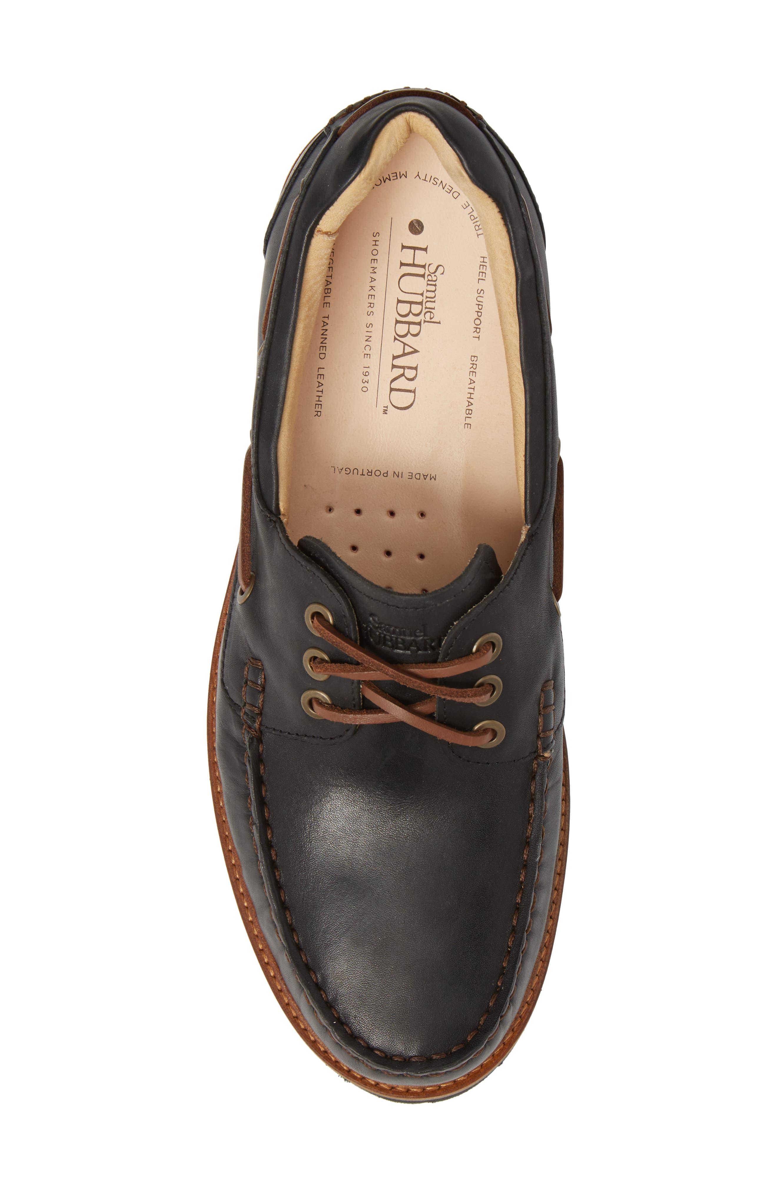 Camplight Water Resistant Boat Shoe,                             Alternate thumbnail 5, color,                             Saddlebag Black Leather