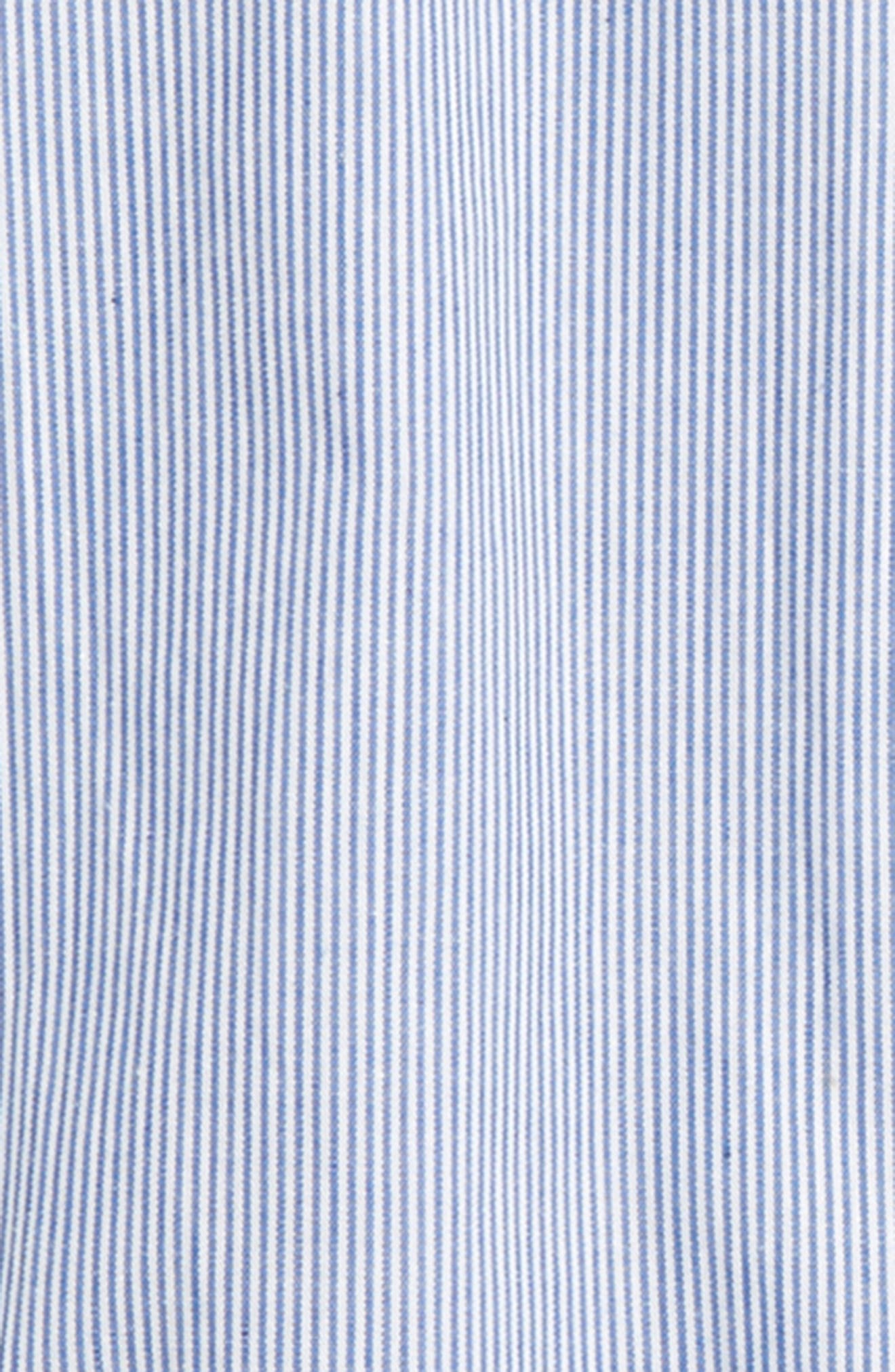 Stripe Peplum Shirt,                             Alternate thumbnail 2, color,                             Blue Stripes