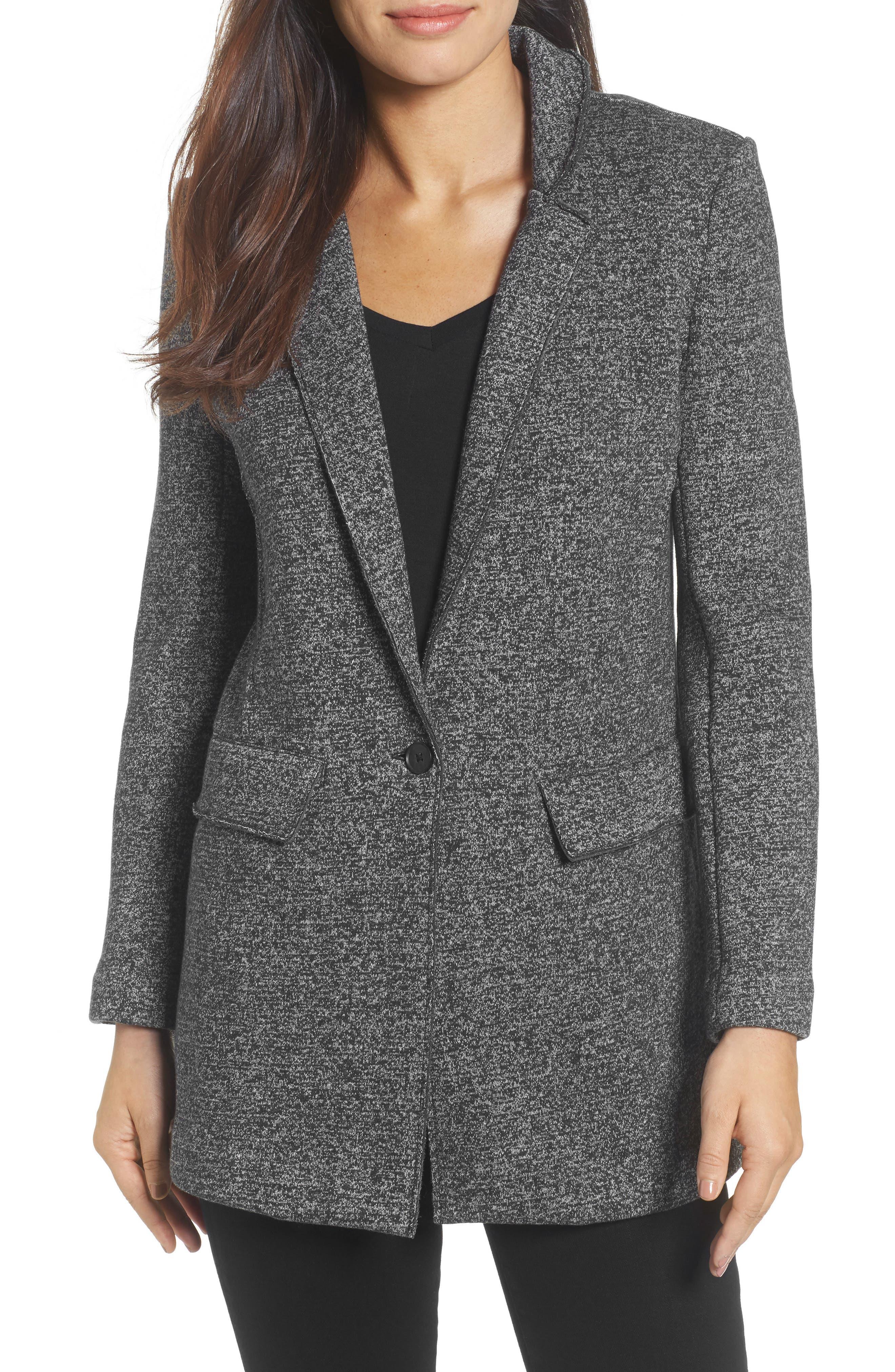 Main Image - Halogen® Knit Boyfriend Jacket (Regular & Petite)