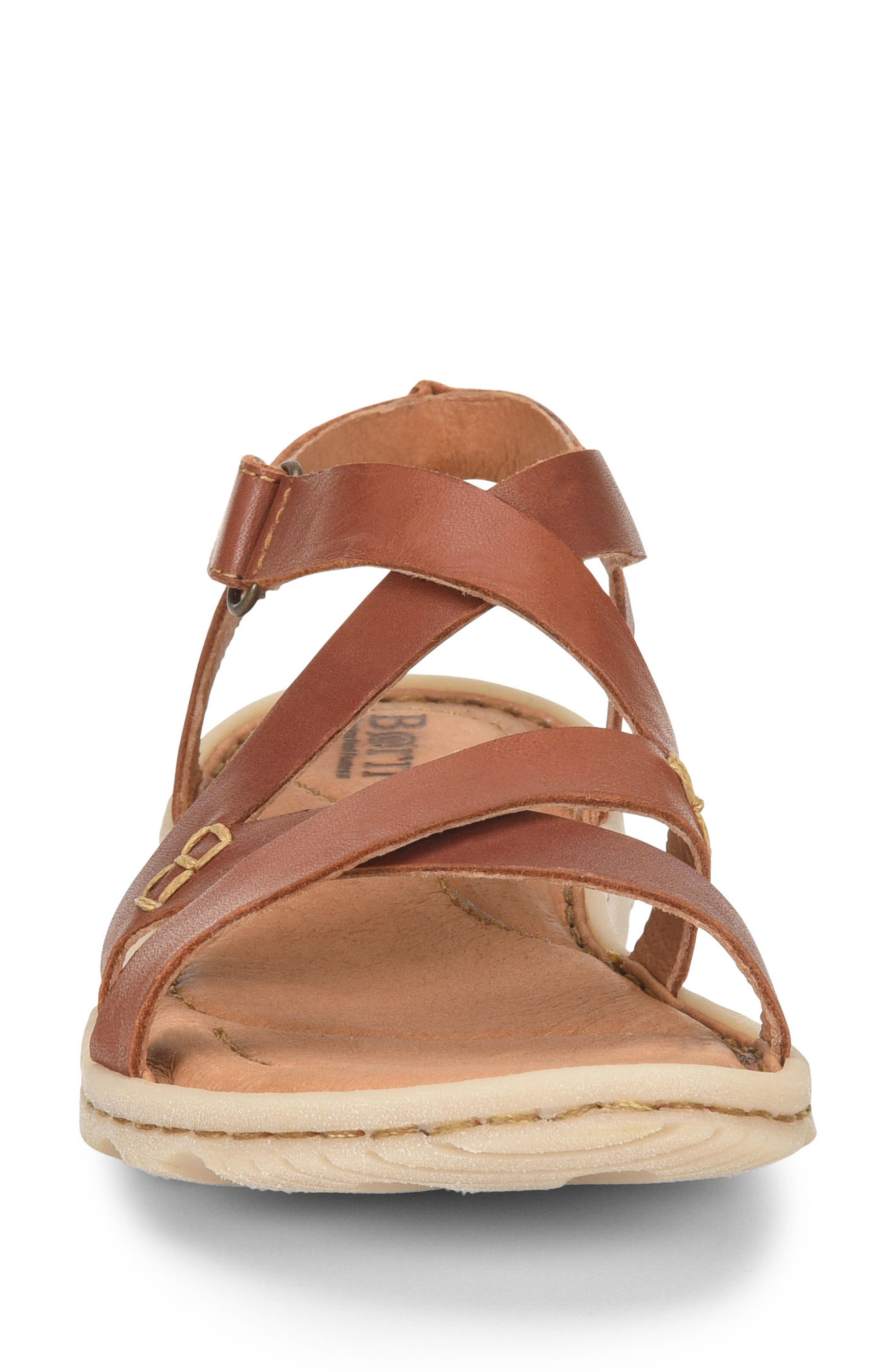 Trinidad Sandal,                             Alternate thumbnail 4, color,                             Brown Leather