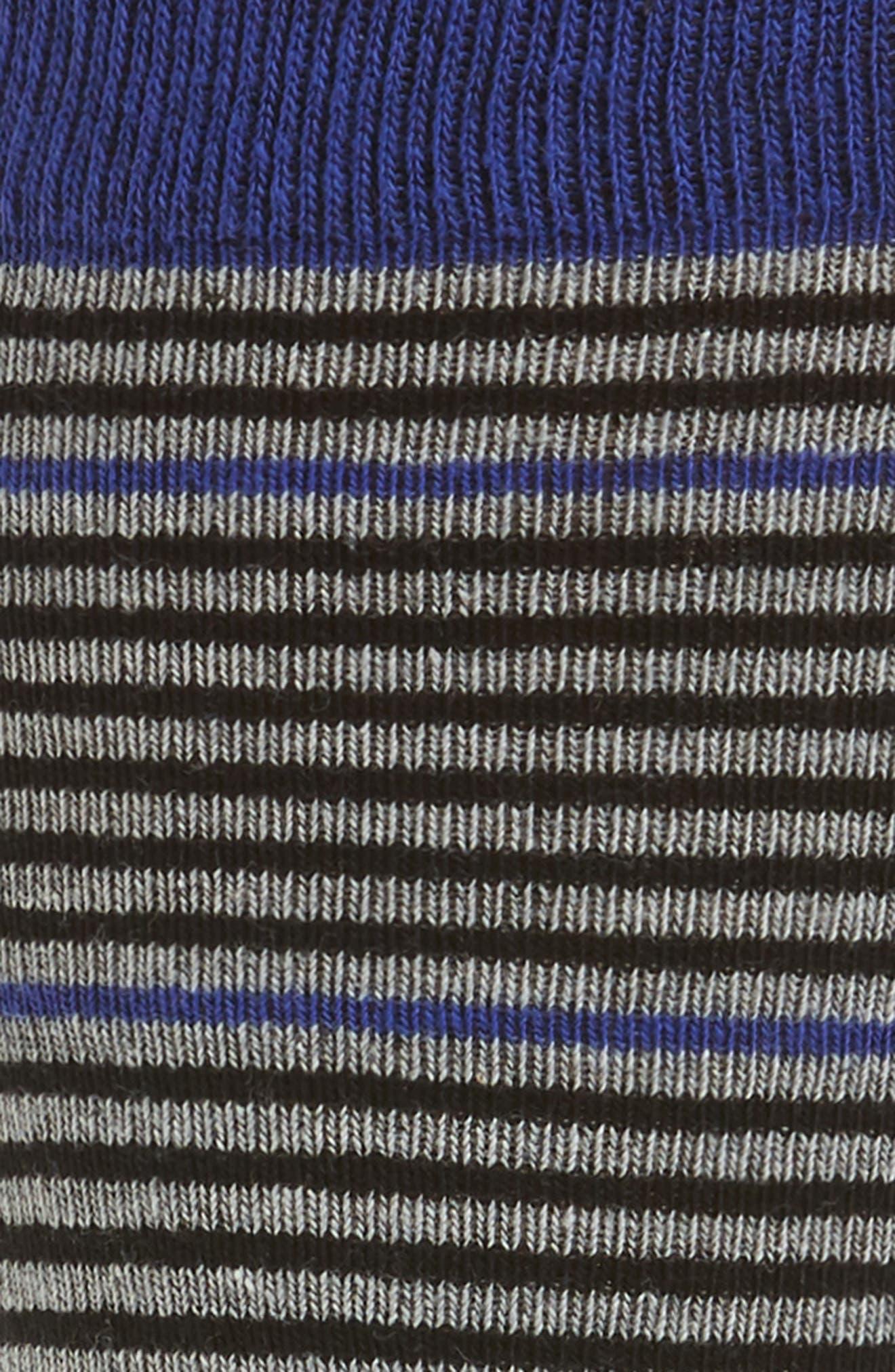 Pinstripe Socks,                             Alternate thumbnail 2, color,                             Blue