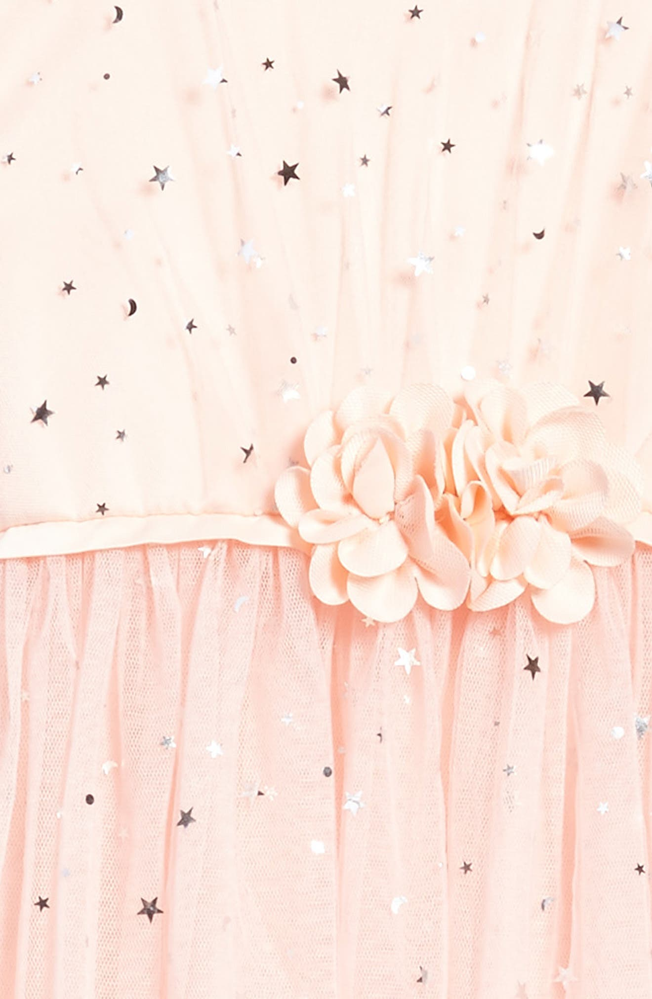 Star Tulle Dress,                             Alternate thumbnail 3, color,                             Pink