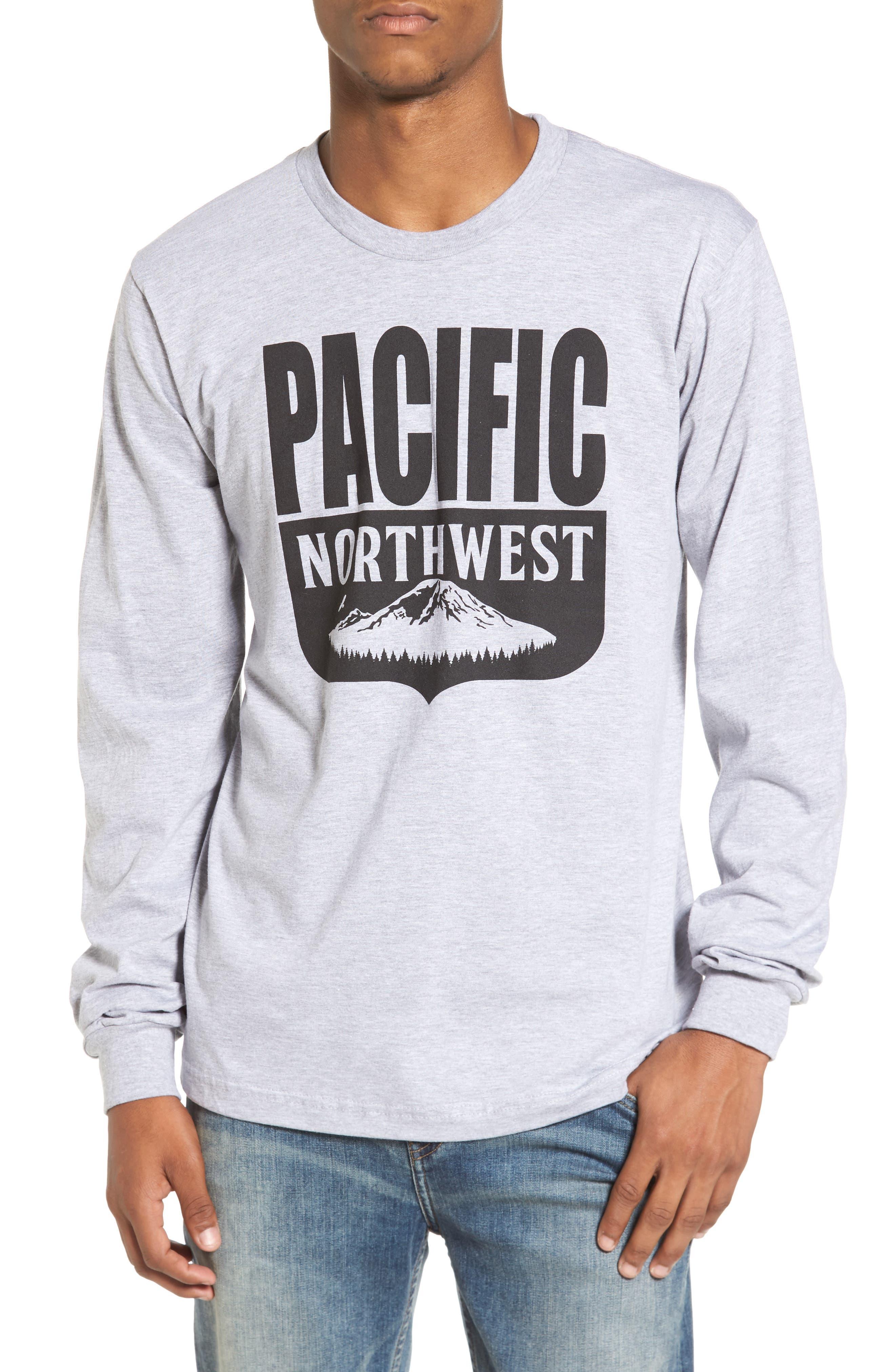 PNW Shield Sweatshirt,                         Main,                         color, Heather Grey