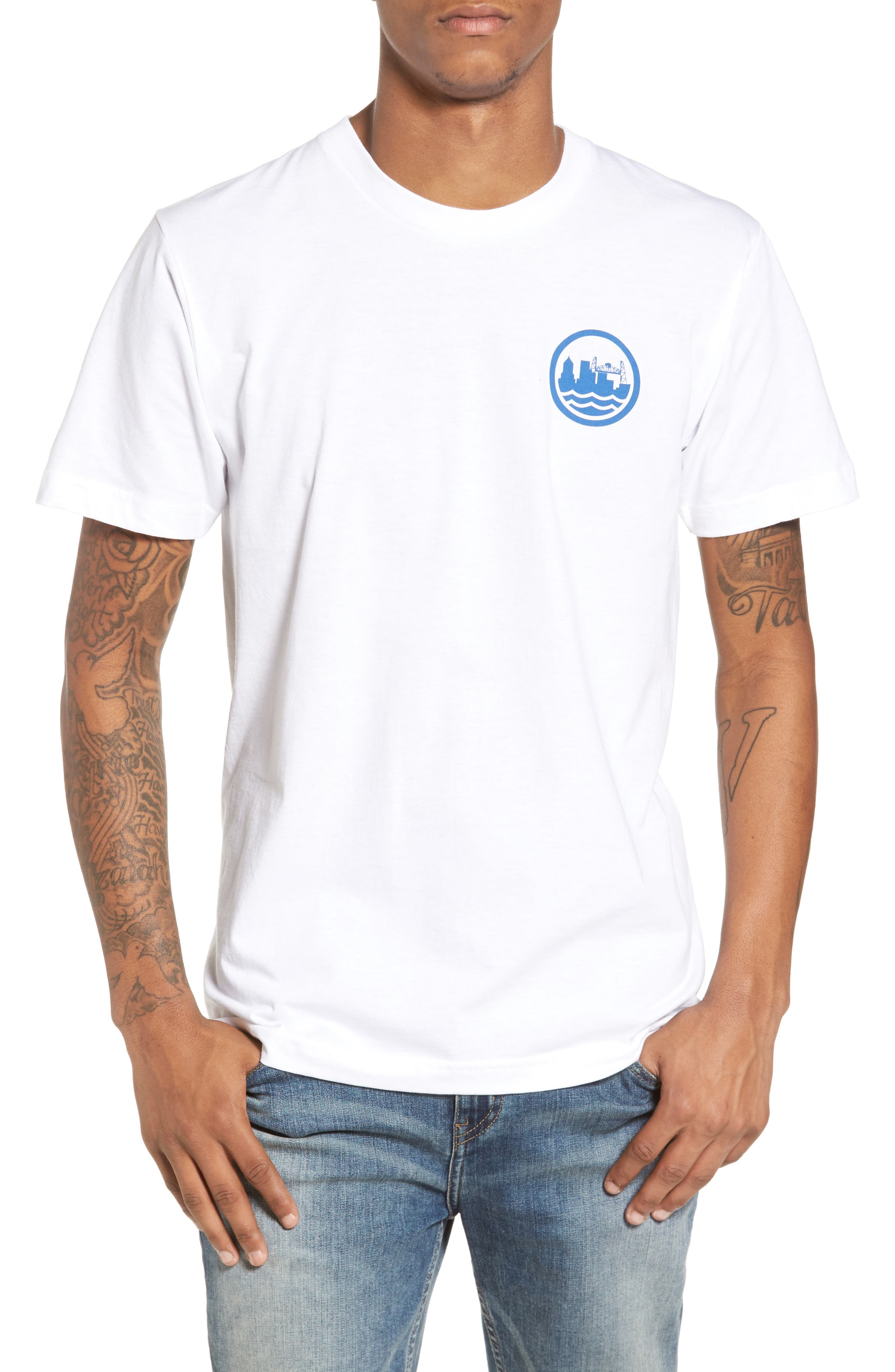 PDX T-Shirt,                         Main,                         color, White