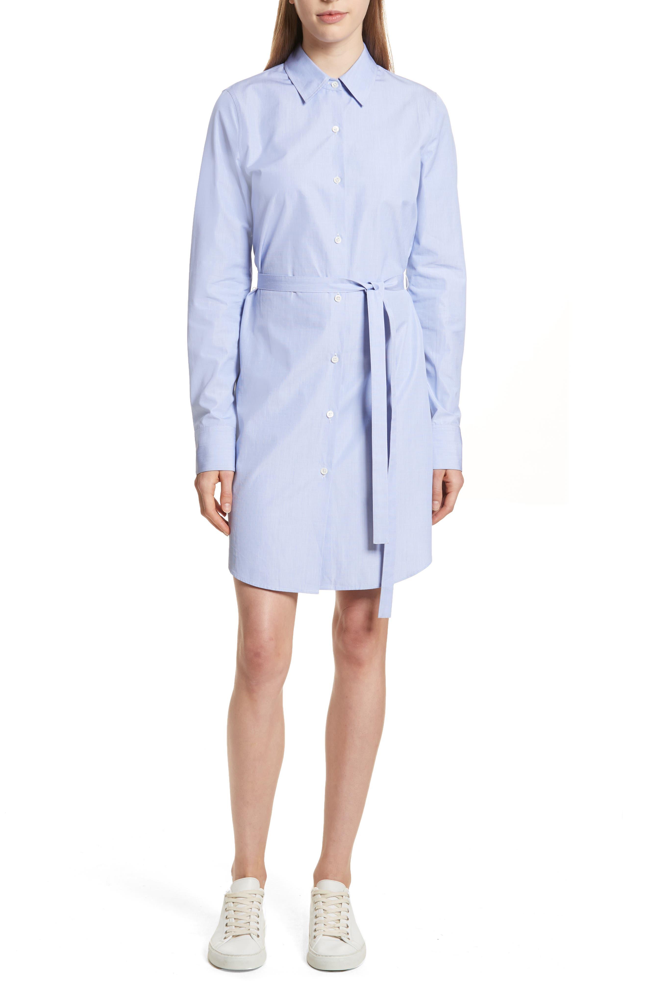 Crowley Cotton Shirtdress,                         Main,                         color, Navy Multi