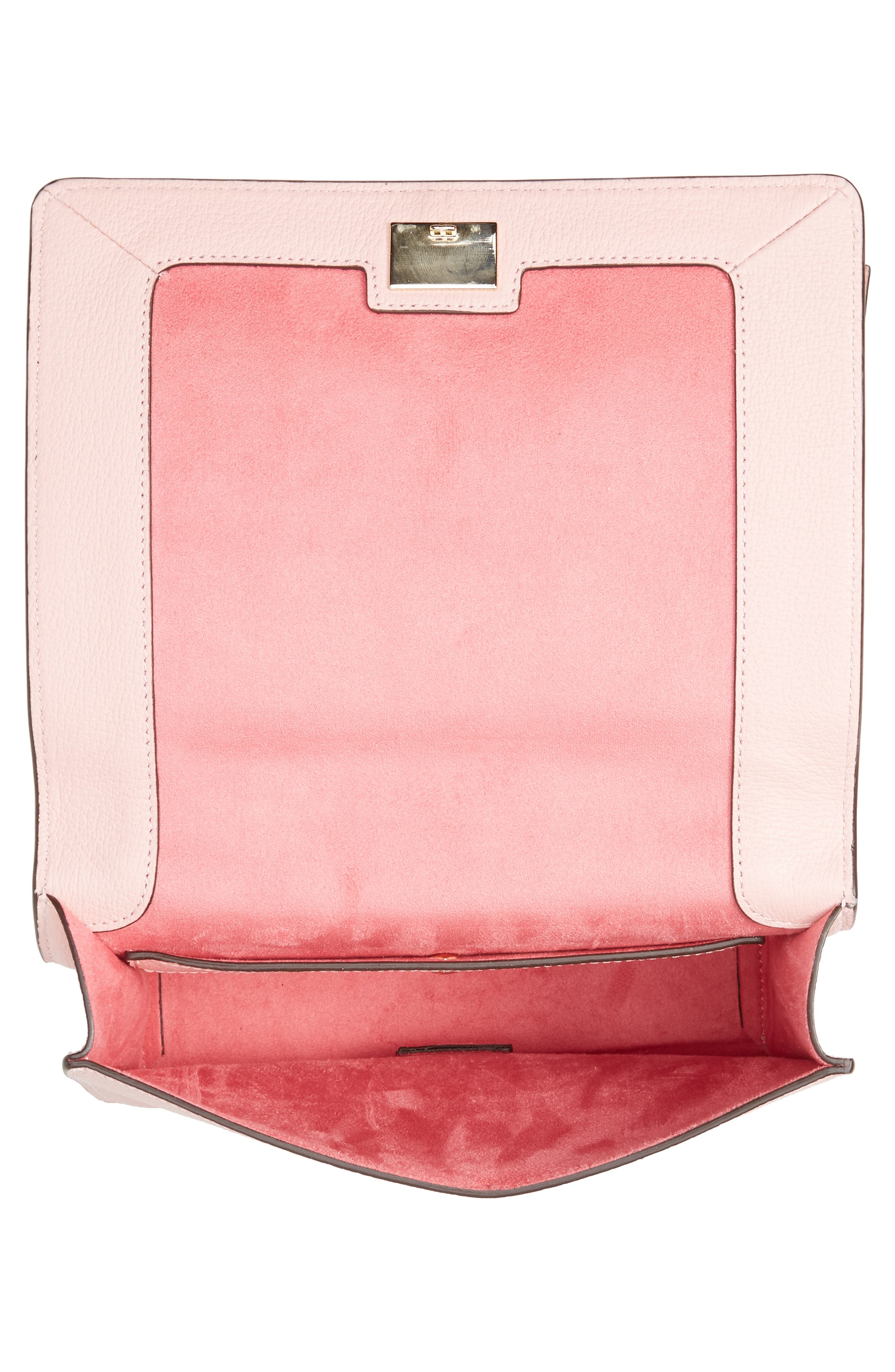 olive drive - marci leather shoulder bag,                             Alternate thumbnail 4, color,                             Rose Jade