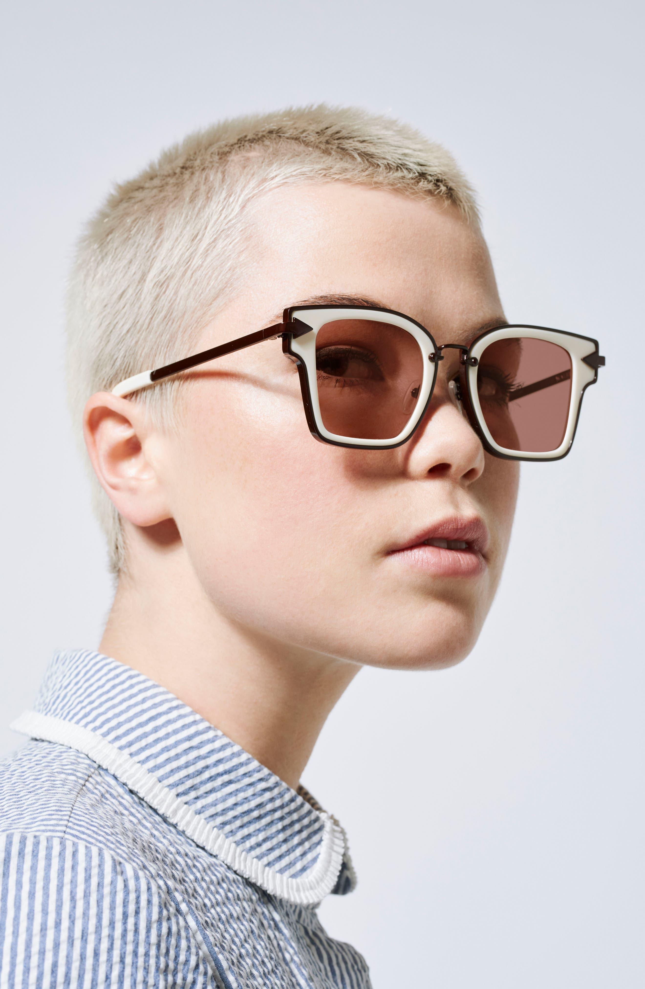 Rebellion 49mm Sunglasses,                             Alternate thumbnail 5, color,                             Ecru