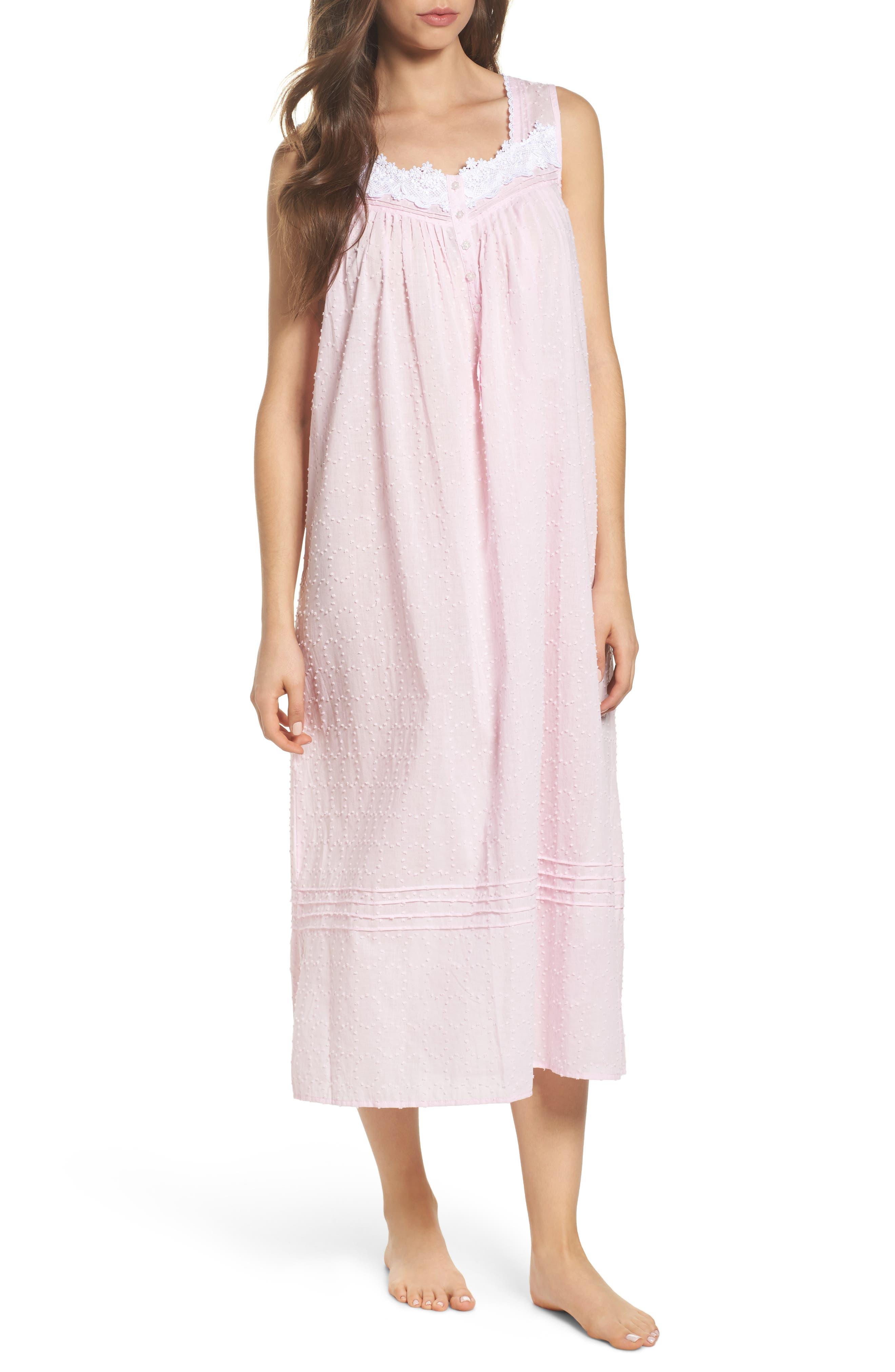 Main Image - Eileen West Swiss Dot Nightgown