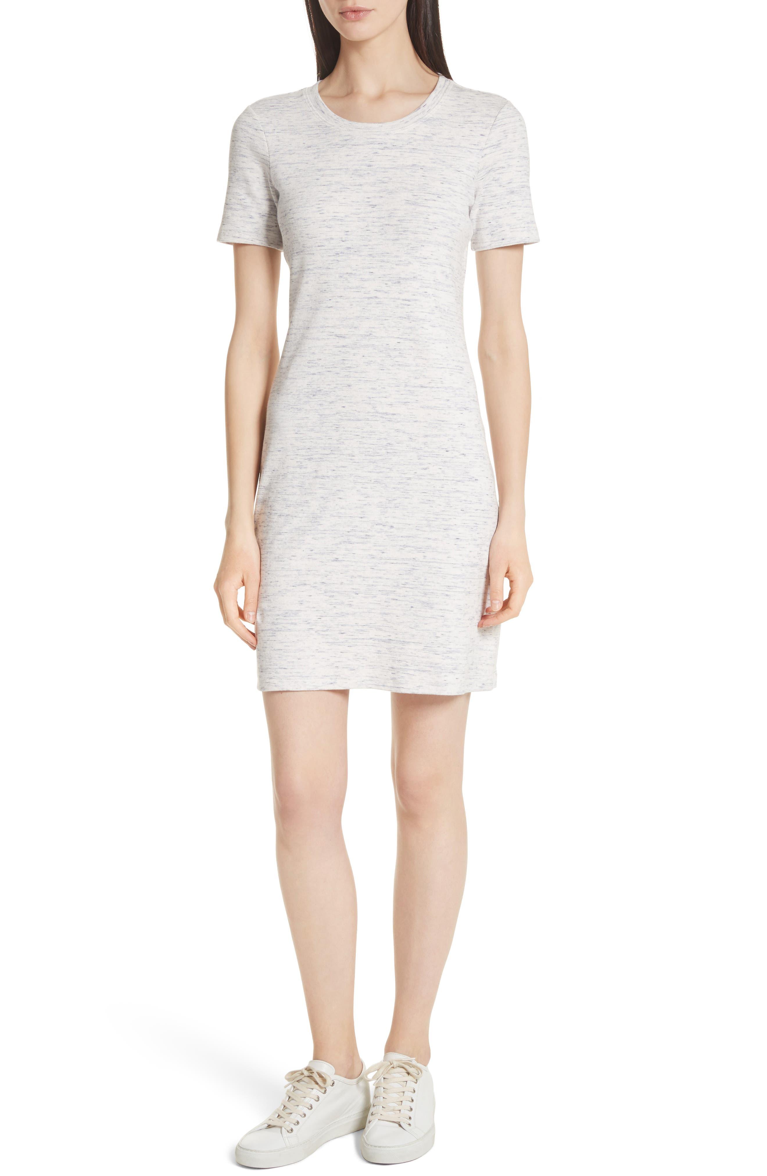 Cherry B3. T-Shirt Dress,                             Main thumbnail 1, color,                             Light Denim Melange